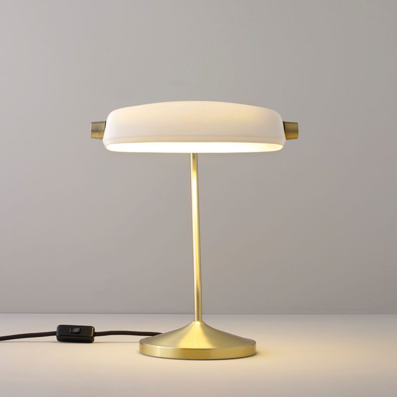 Original Btc Bankers Table Lamp Satin Brass C