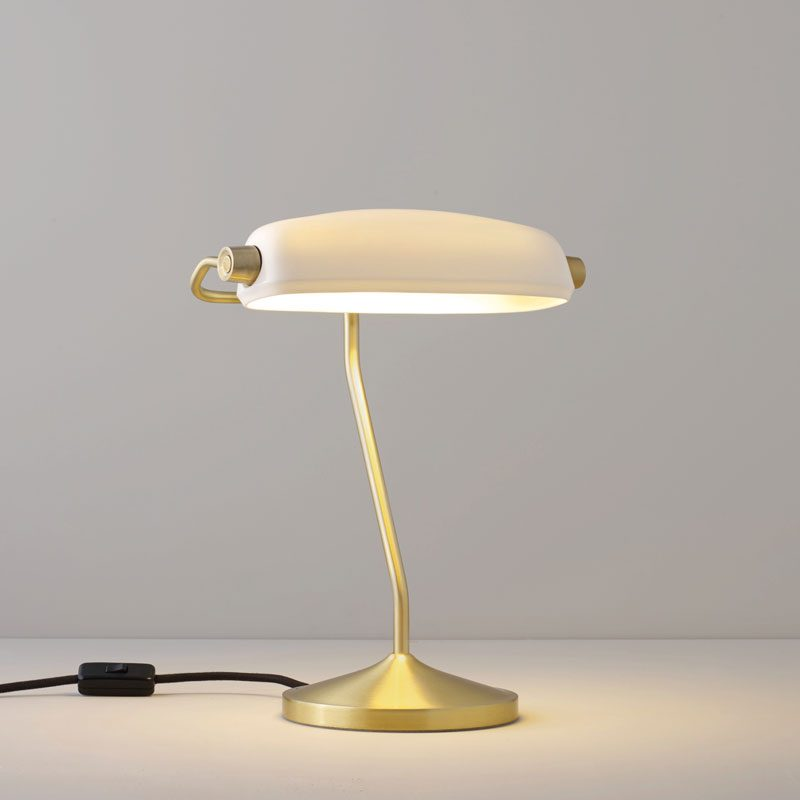 Original Btc Bankers Table Lamp Satin Brass
