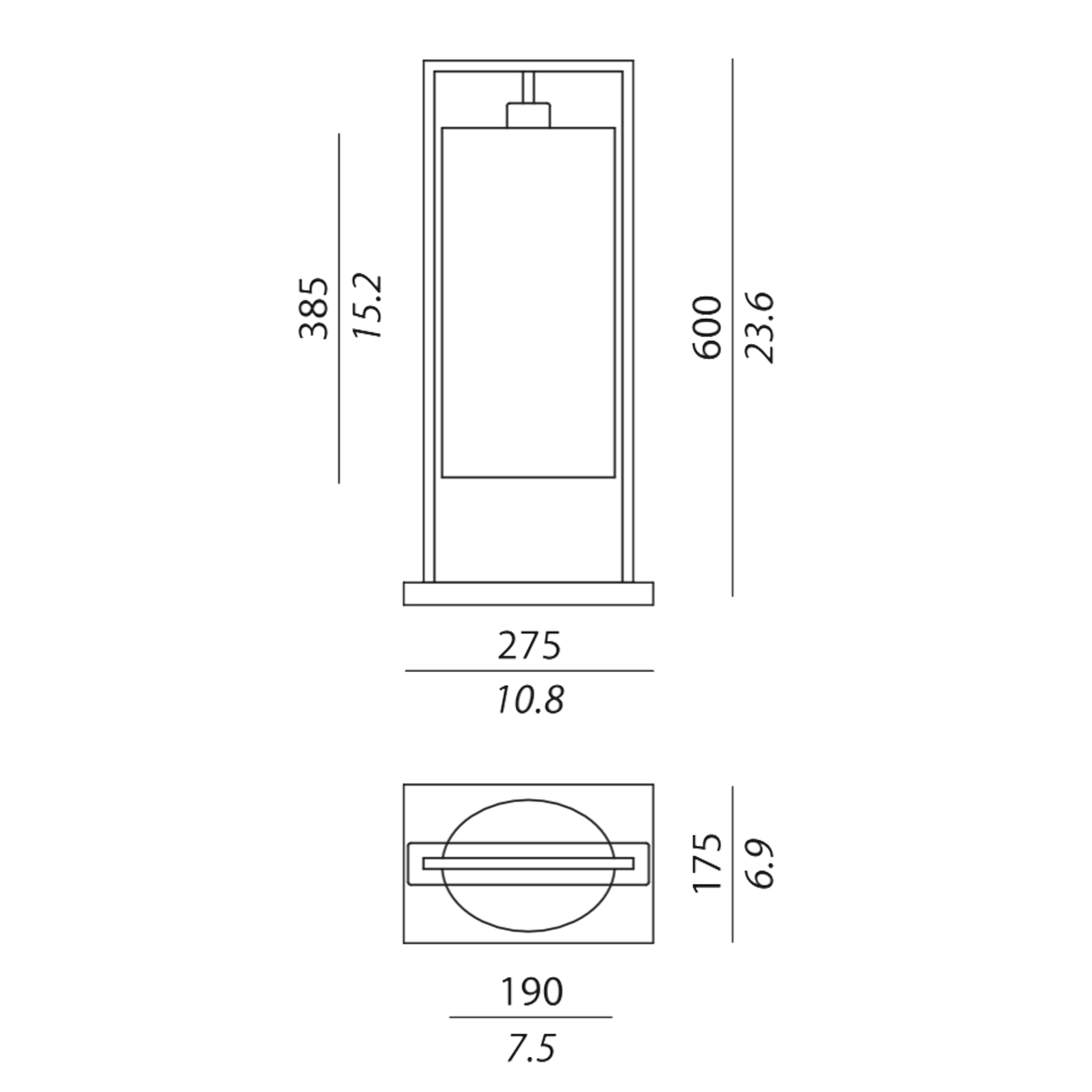 Contardi Athena Ap Wall Light Line Drawing