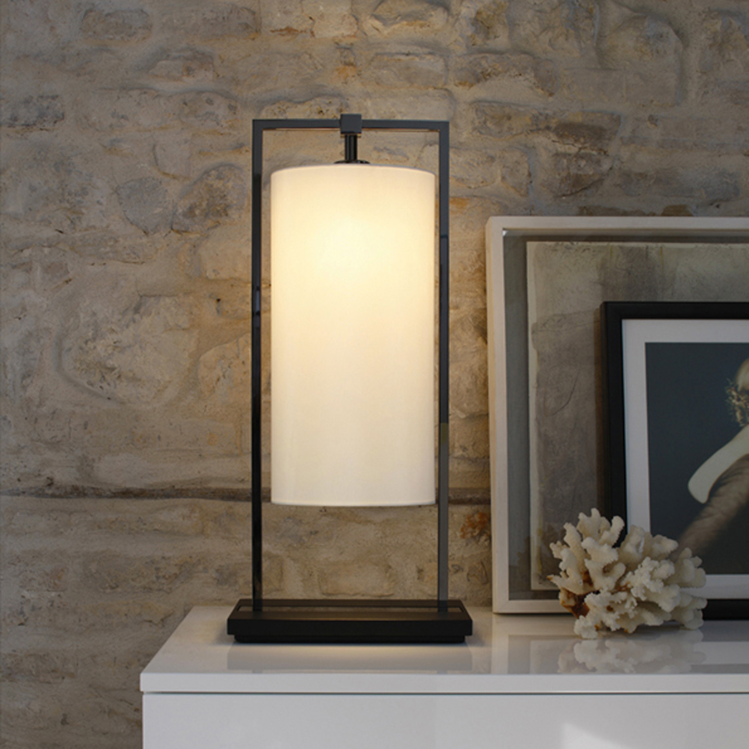 Contardi Athena Ap Wall Light Dark Oak White Percaline