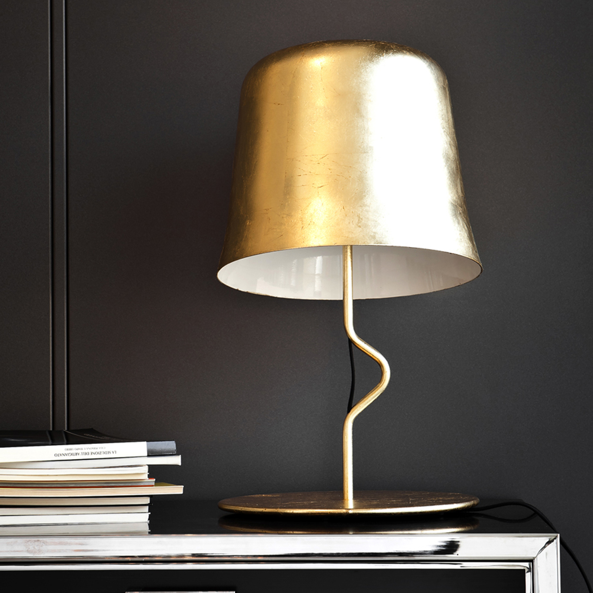 Contardi Agata Ap Wall Light Gold Leaf D
