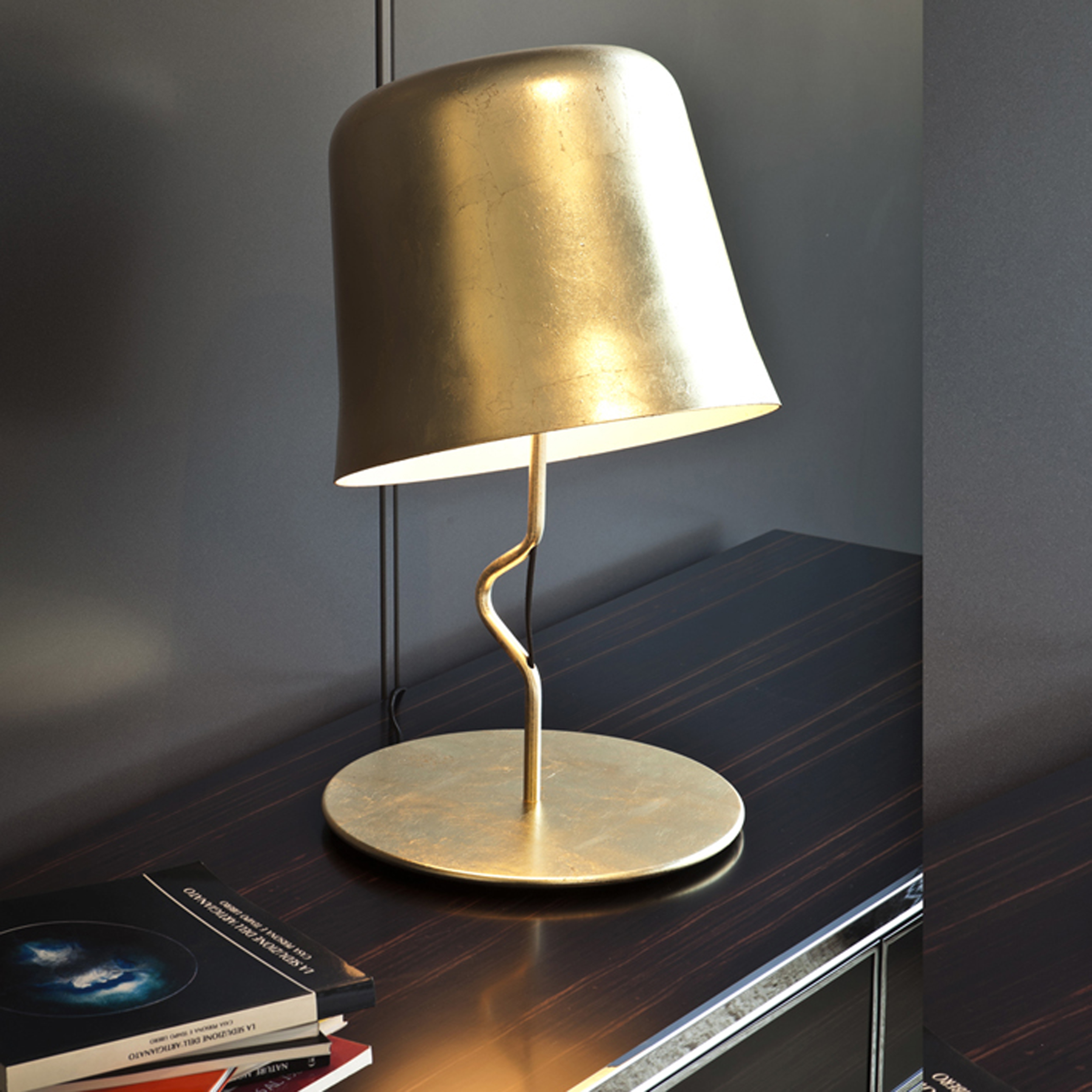 Contardi Agata Ap Wall Light Gold Leaf C