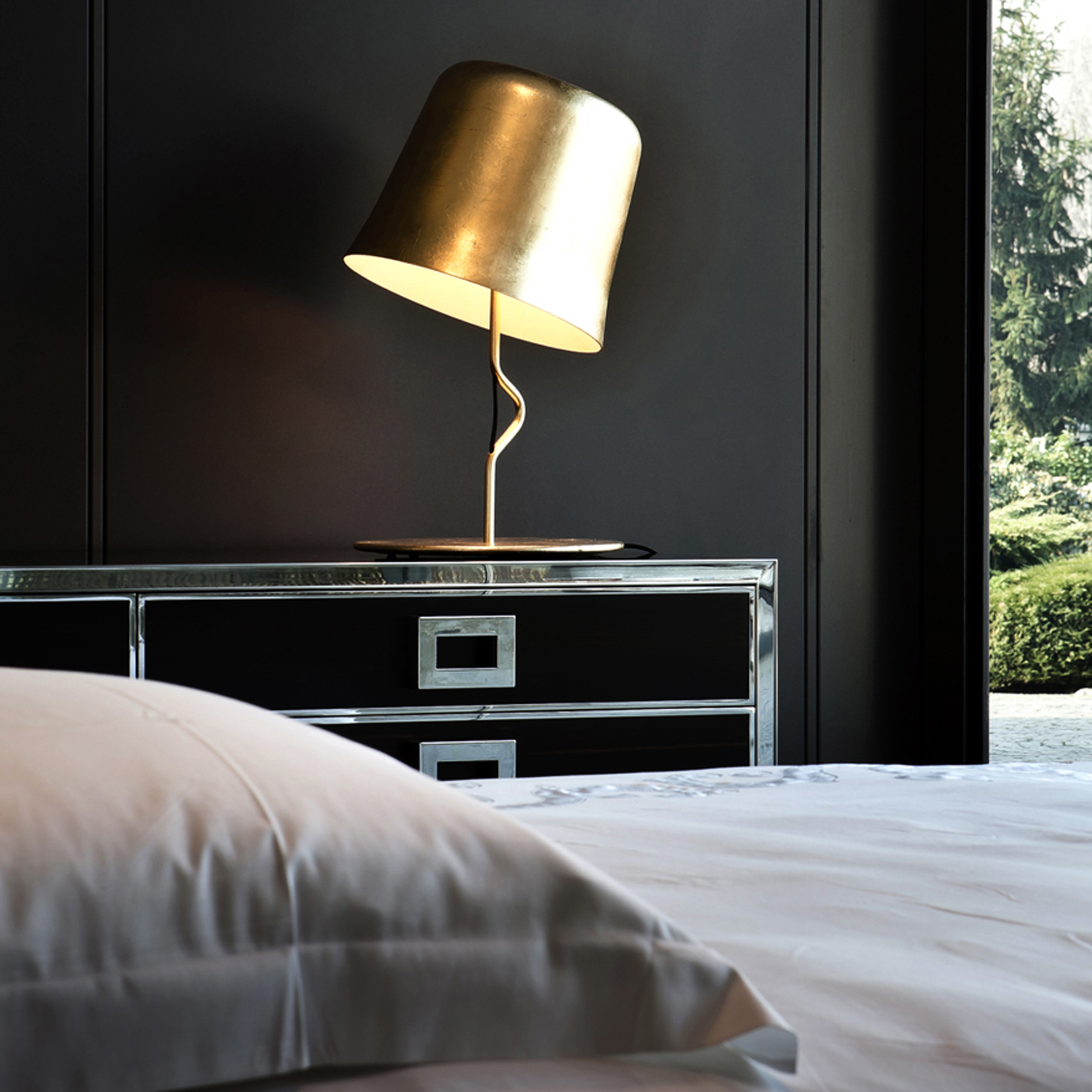 Contardi Agata Ap Wall Light Gold Leaf B