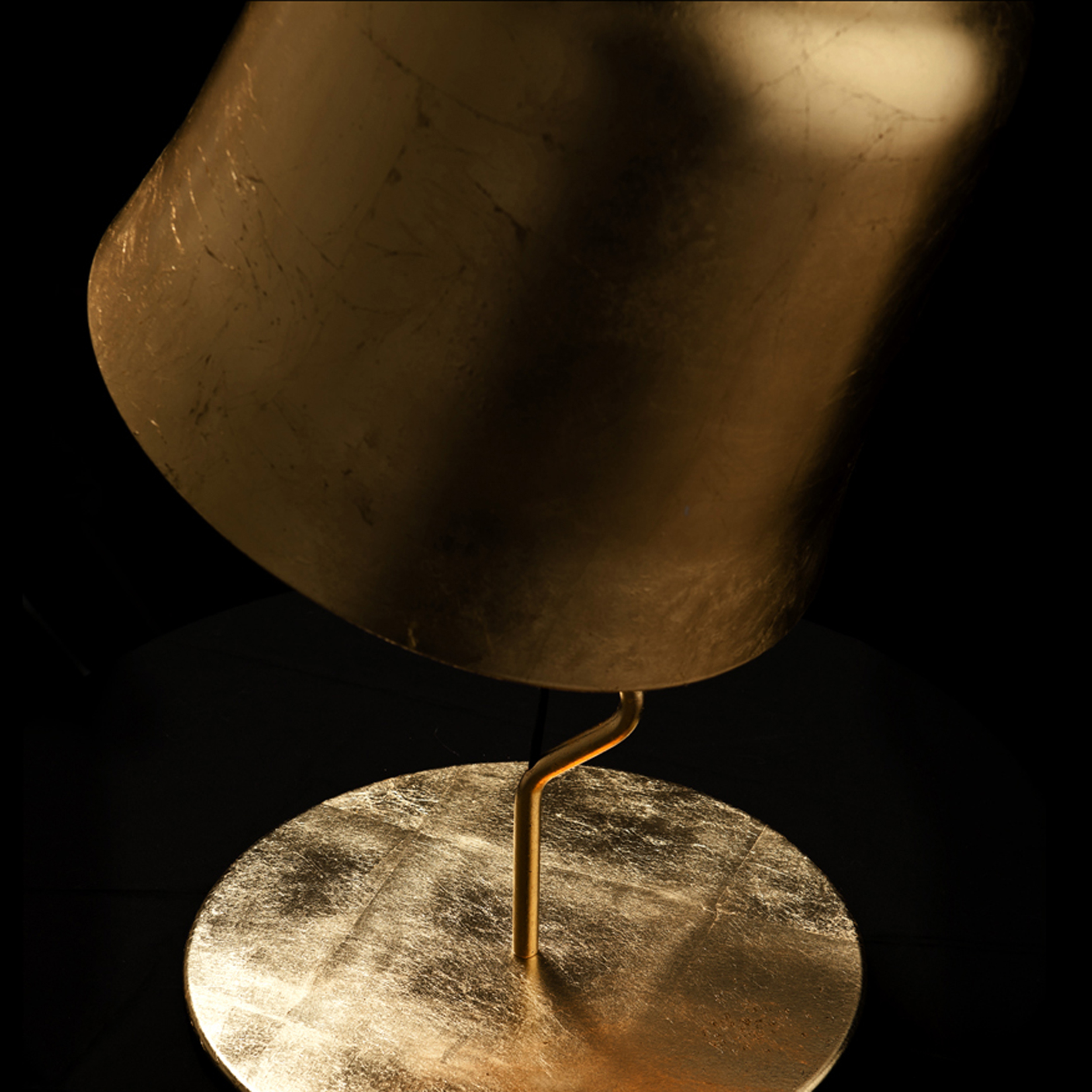 Contardi Agata Ap Wall Light Gold Leaf