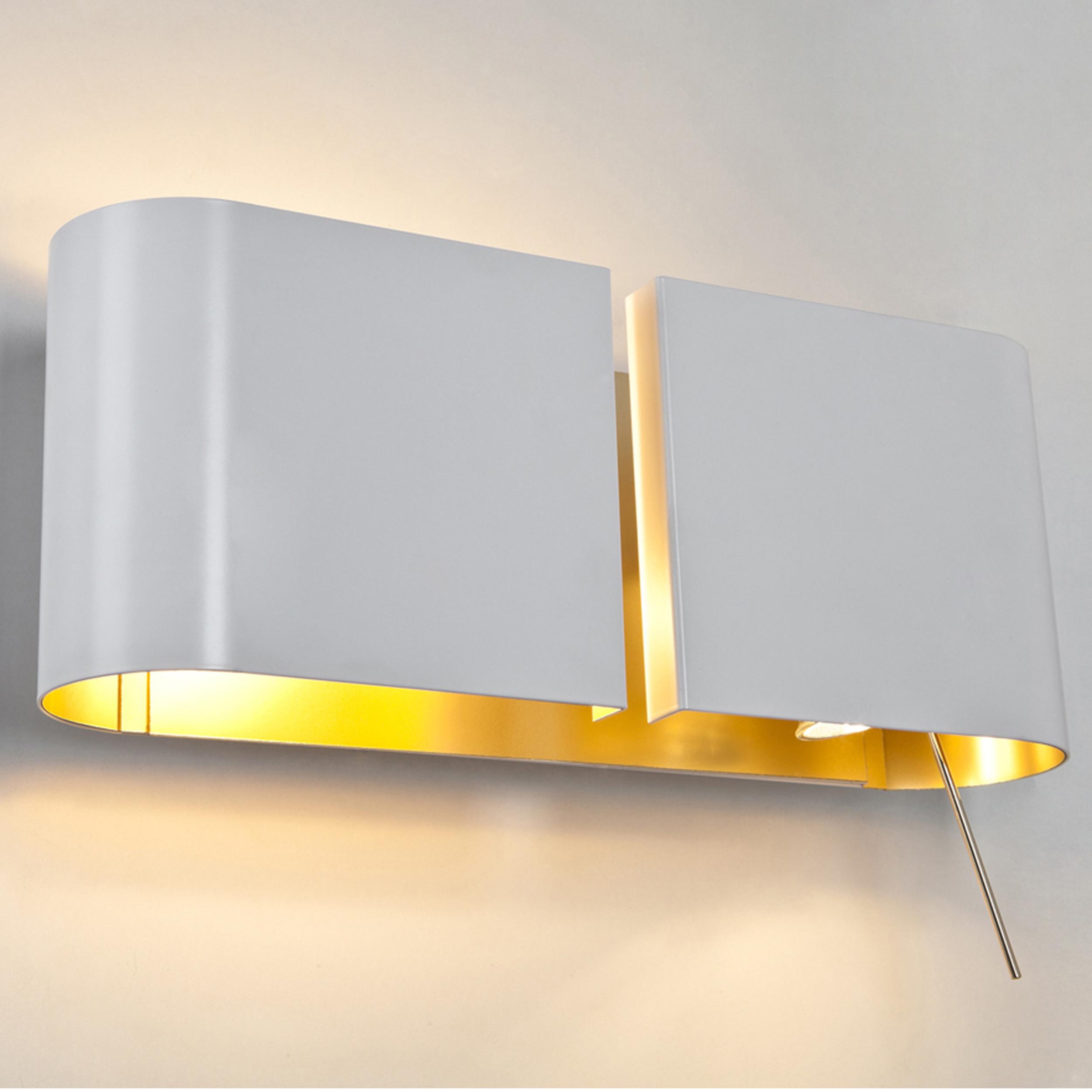 Contardi Duos Ap Wall Light White Gold B