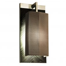 Contardi Coco Mega Outdoor Wall Light Black Lacquered Satin Marine Wood