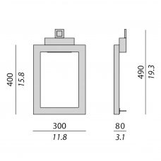 Contardi Uffizi Ap 2 Wall Light Line Drawing