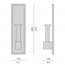 Contardi Lala Soliflor Ap Wall Light Line Drawing
