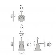 Contardi Belle Mini Ap Wall Light Line Drawing