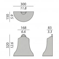 Contardi Belle Small Ap Wall Light Line Drawing