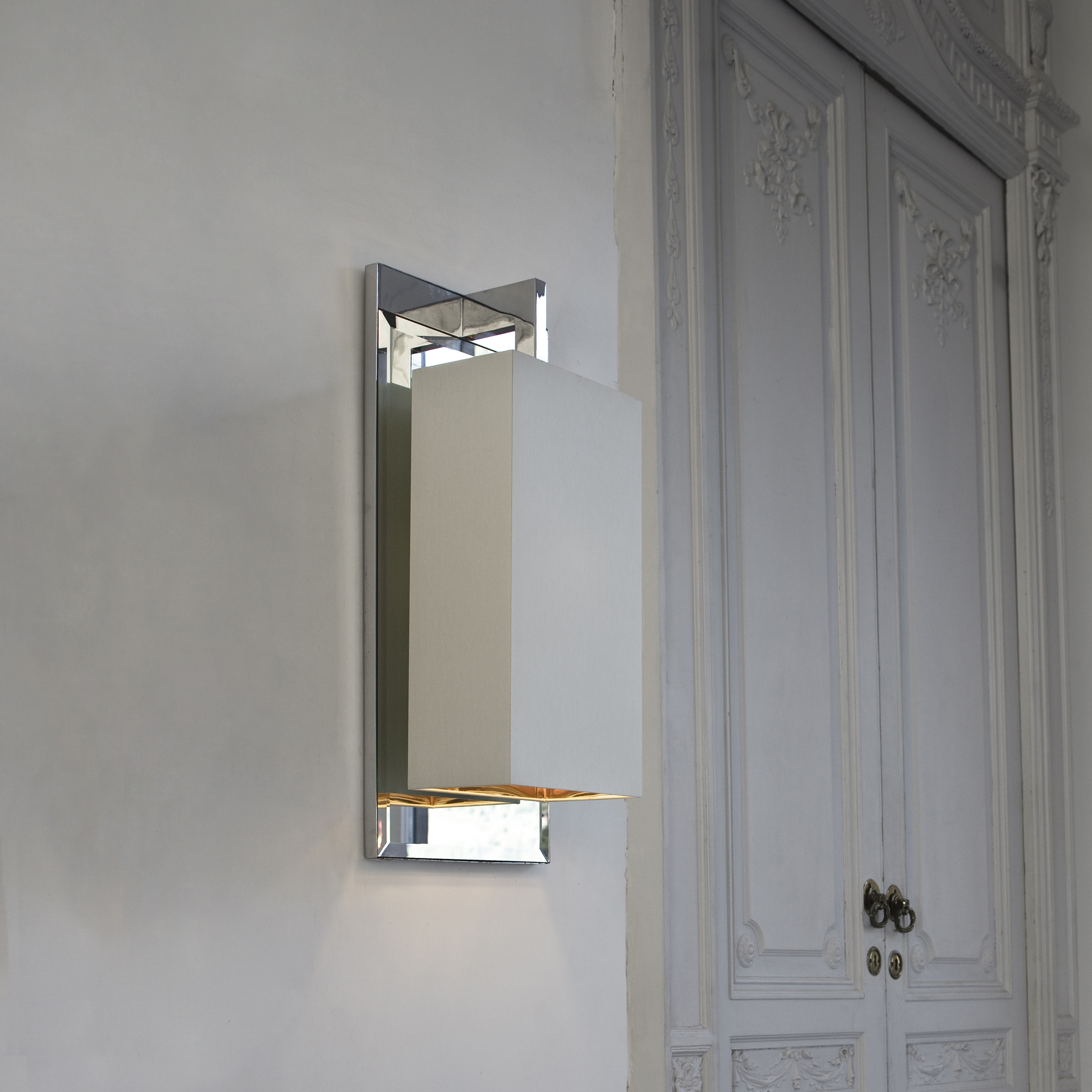 Contardi Coco Mega Ap Wall Light Chrome White Percaline Glod Lining B