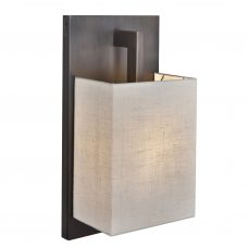 Contardi Coconette Ap Wall Light Satin Bronze White Linen