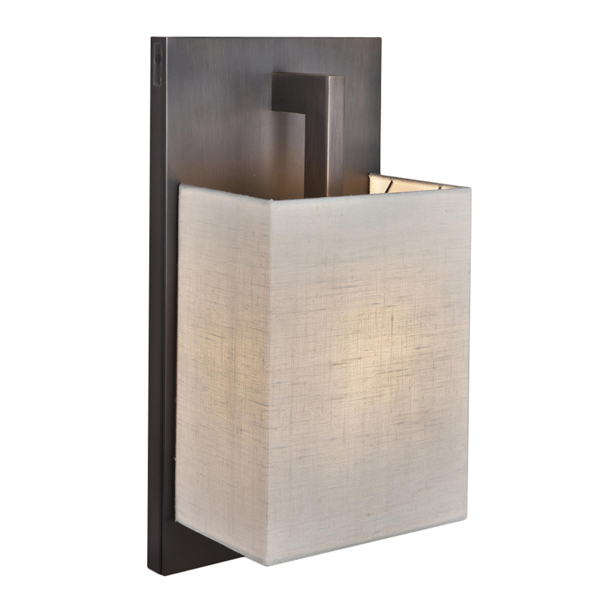 Contardi Coconette Ap Wall Light Satin Bronze White Linen
