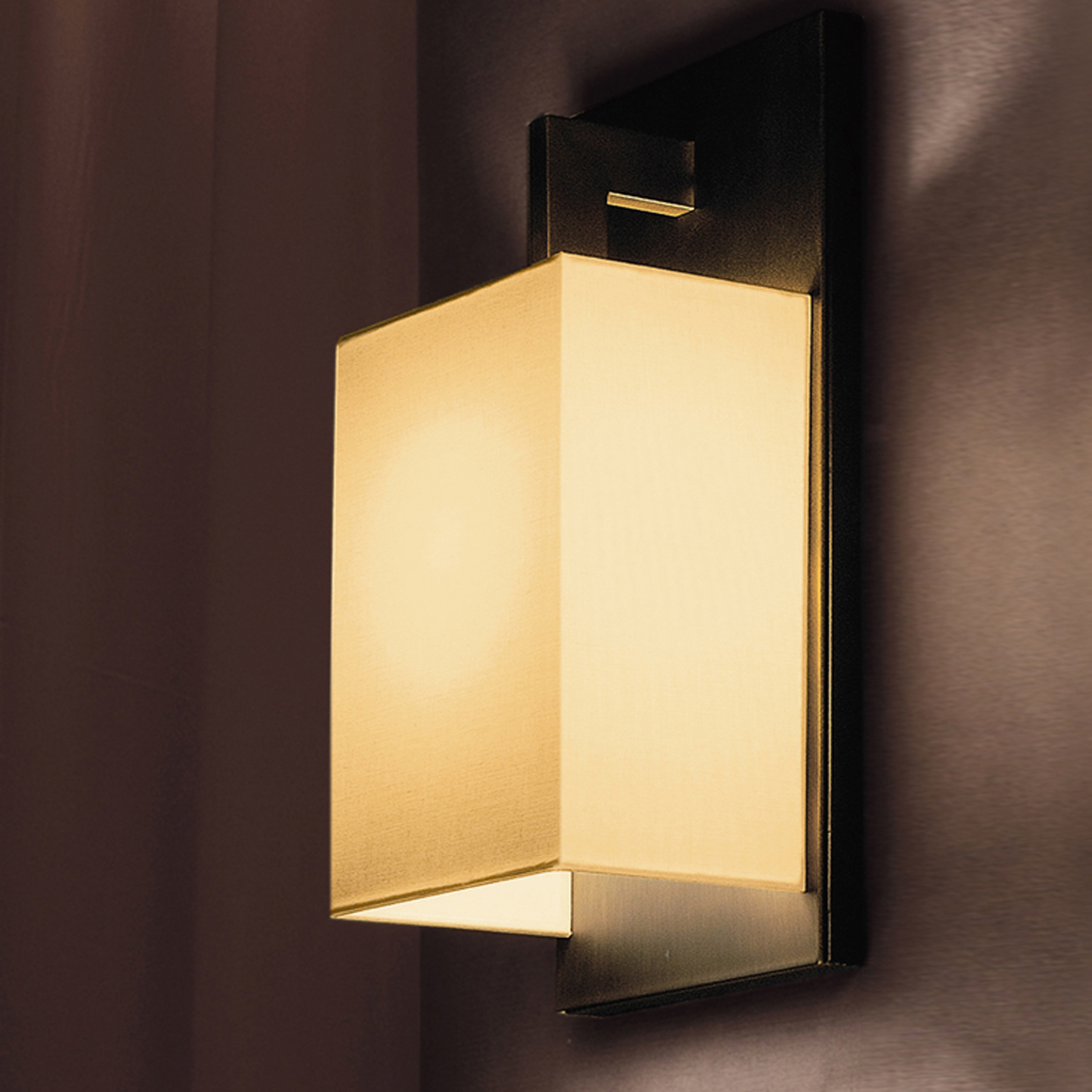 Contardi Coconette Ap Wall Light Satin Bronze White Linen B