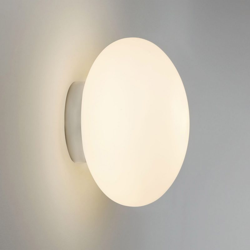 Astro Zeppo Wall Light White Glass E