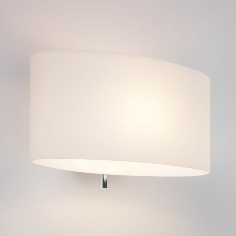Astro Tokyo Switched Wall Light White Glass