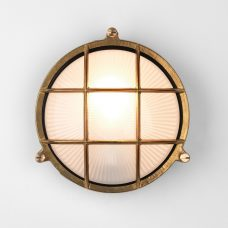 Astro Thurso Round Wall Light Natural Brass B
