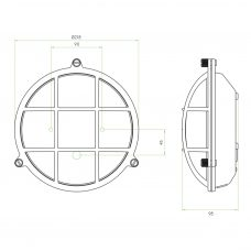 Astro Thurso Round Wall Light Line Drawing