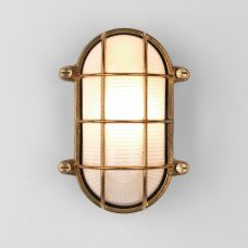 Astro Thurso Oval Wall Light Natural Brass B