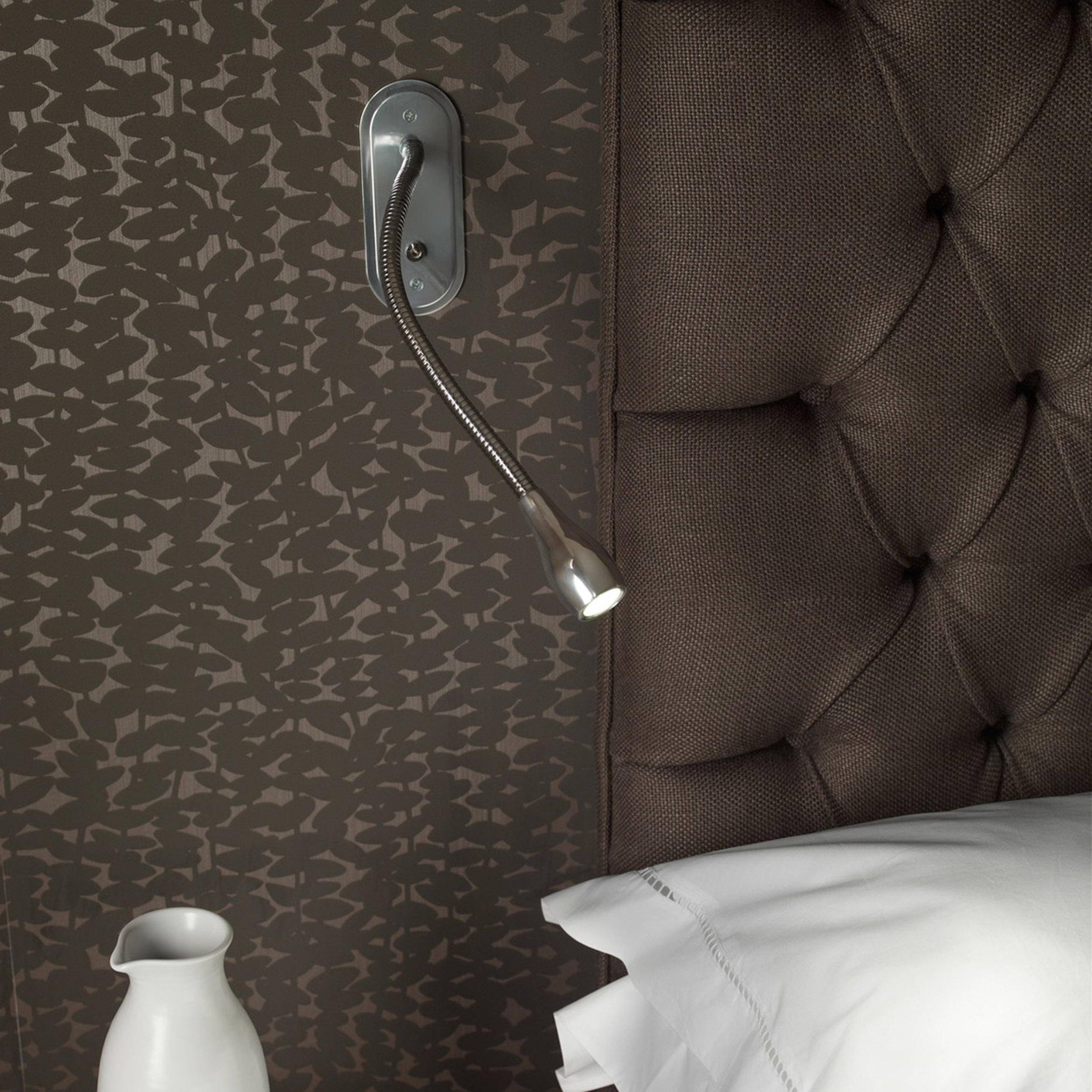 Astro Lindos Switched Led Wall Light Polished Chrome B
