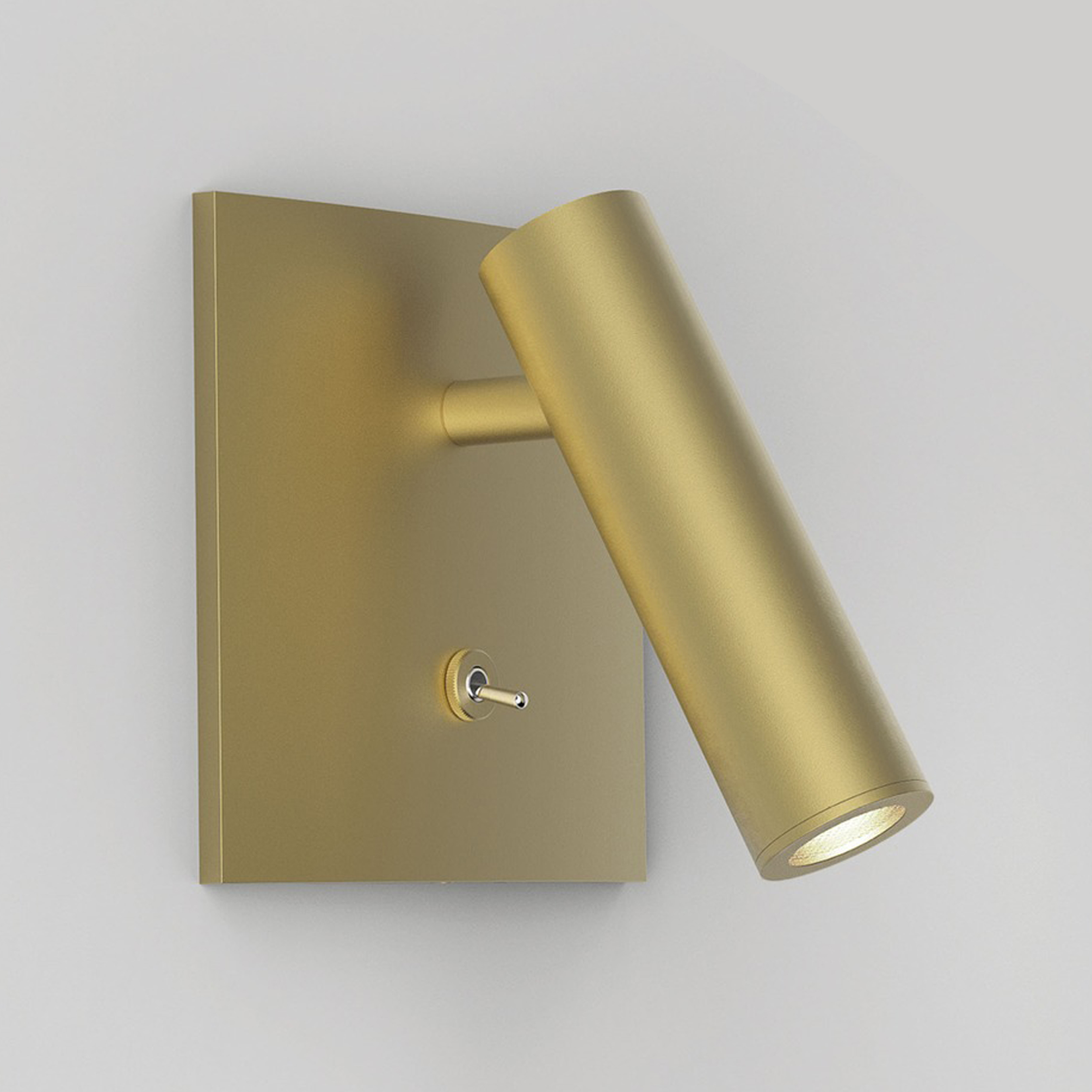 Astro Enna Square Led Wall Light Matt Gold