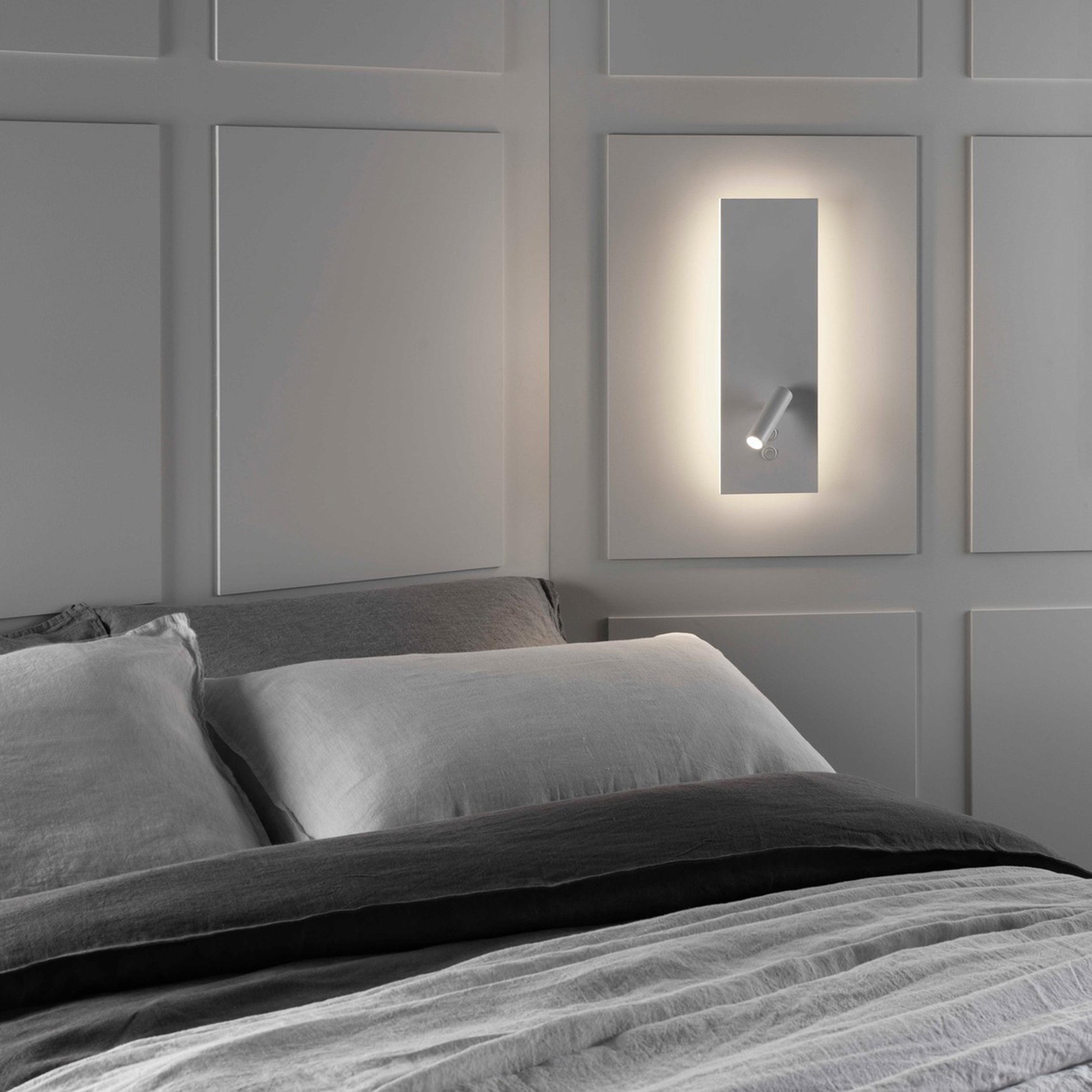 Astro Edge Reader Single Led Wall Light White D