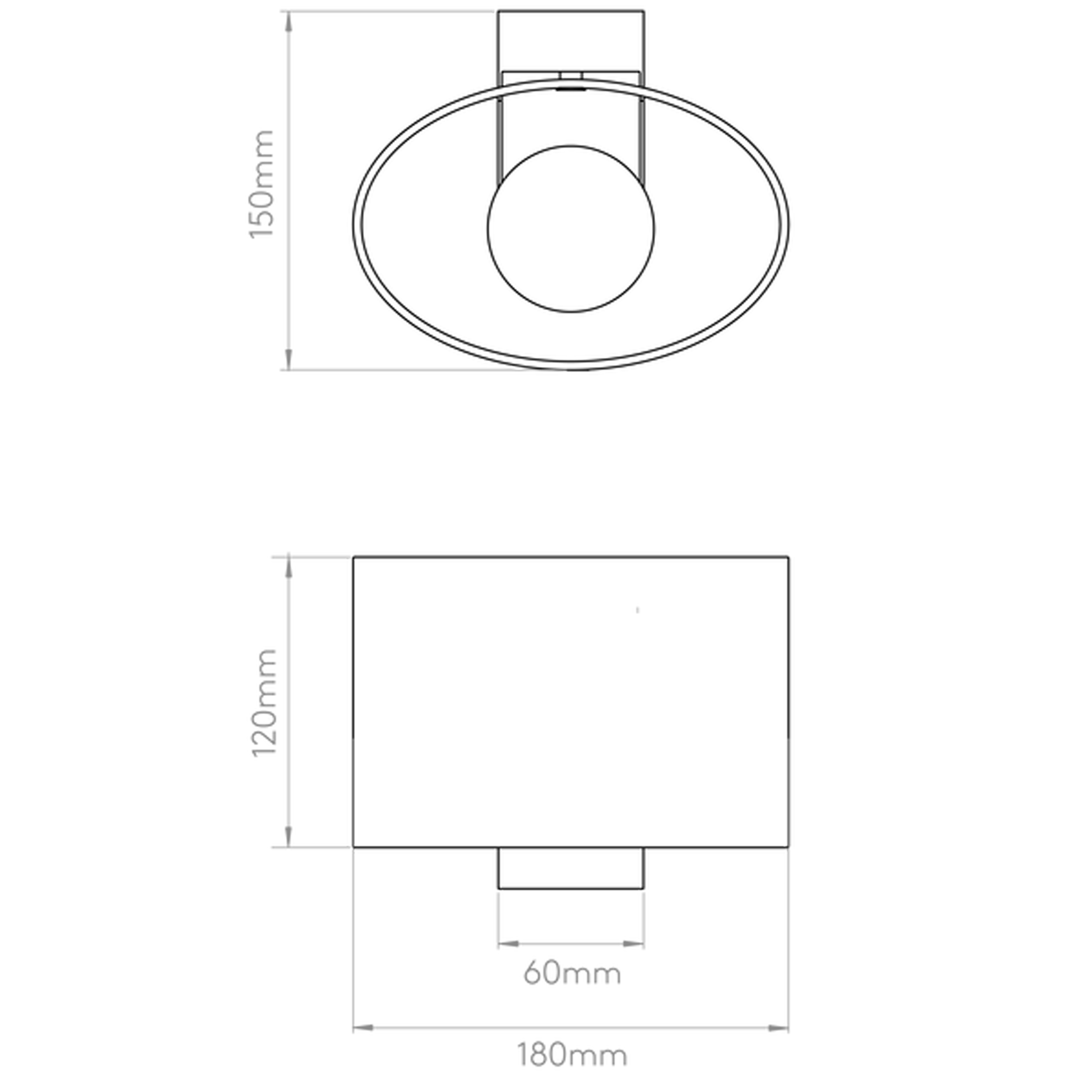 Astro Siena Oval Wall Light Line Drawing