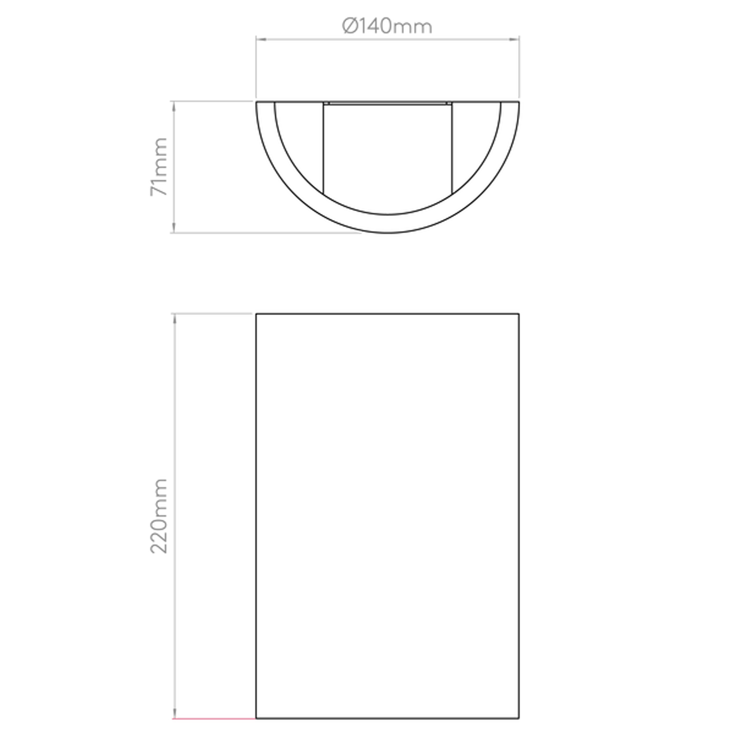 Astro Serifos 220 Wall Light Line Drawing