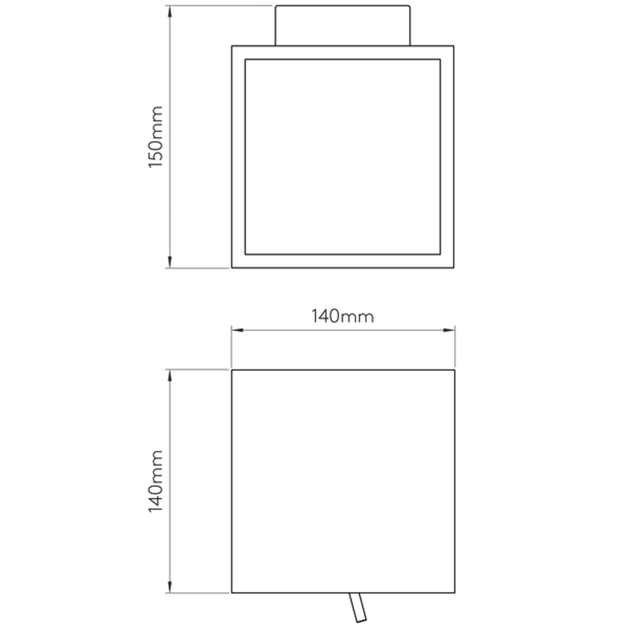 Astro Pienza 140 Switched Wall Light Line Drawing