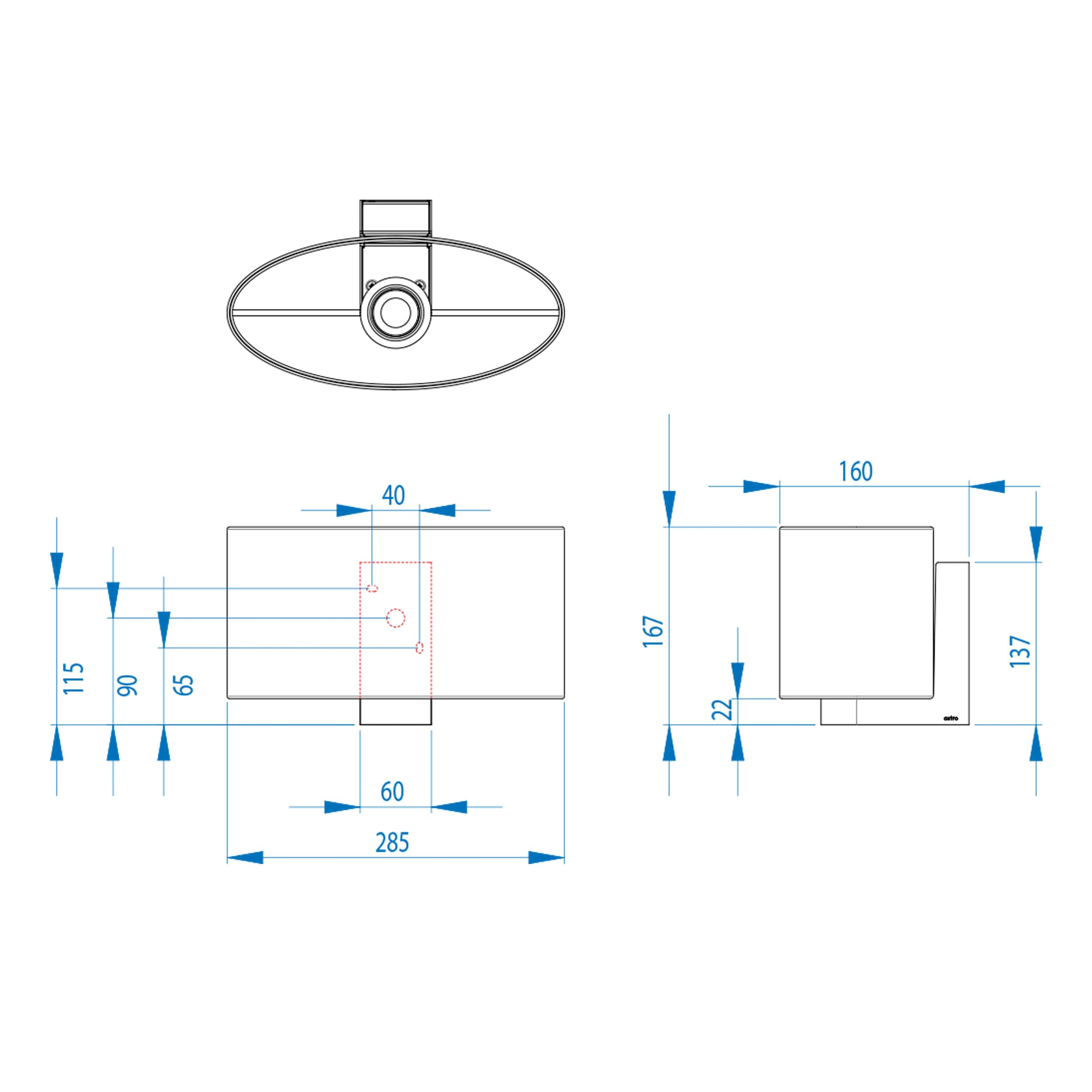 Astro Napoli Wall Ceiling Light Line Drawing