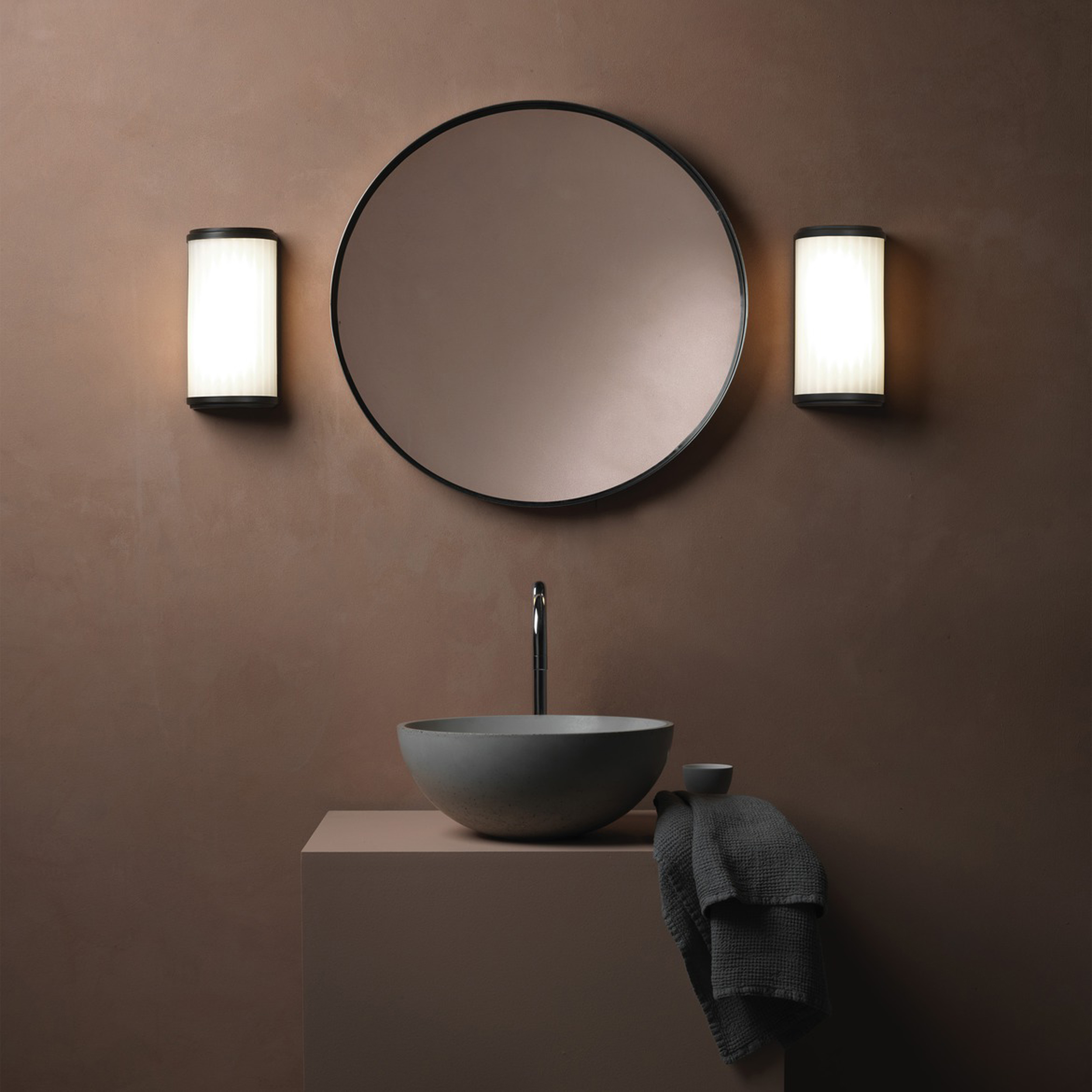 Astro Monza 250 Led Wall Light Bronze B