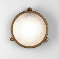 Astro Malibu Coastal Round Wall Light Antique Brass