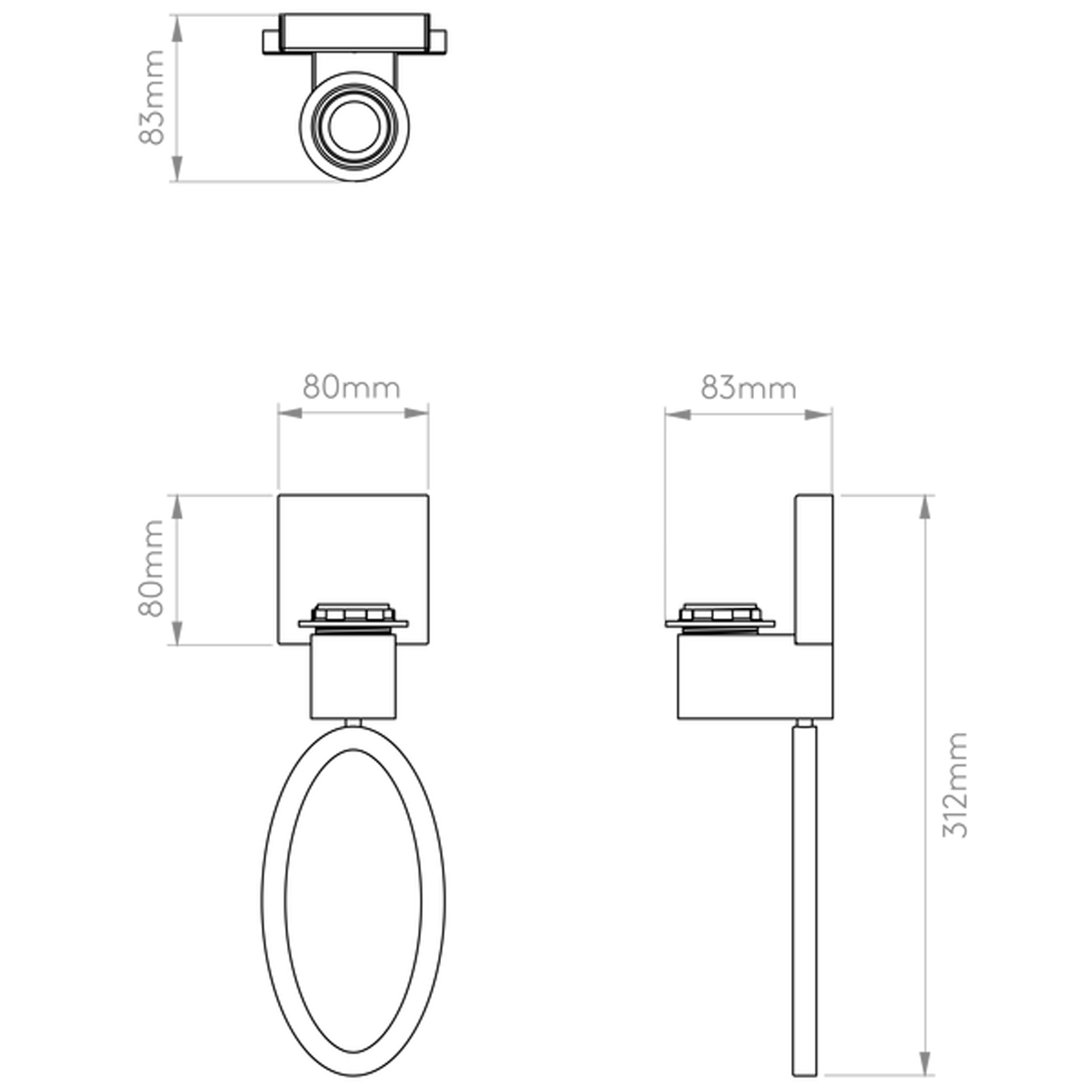 Astro Lima Wall Light Line Drawing
