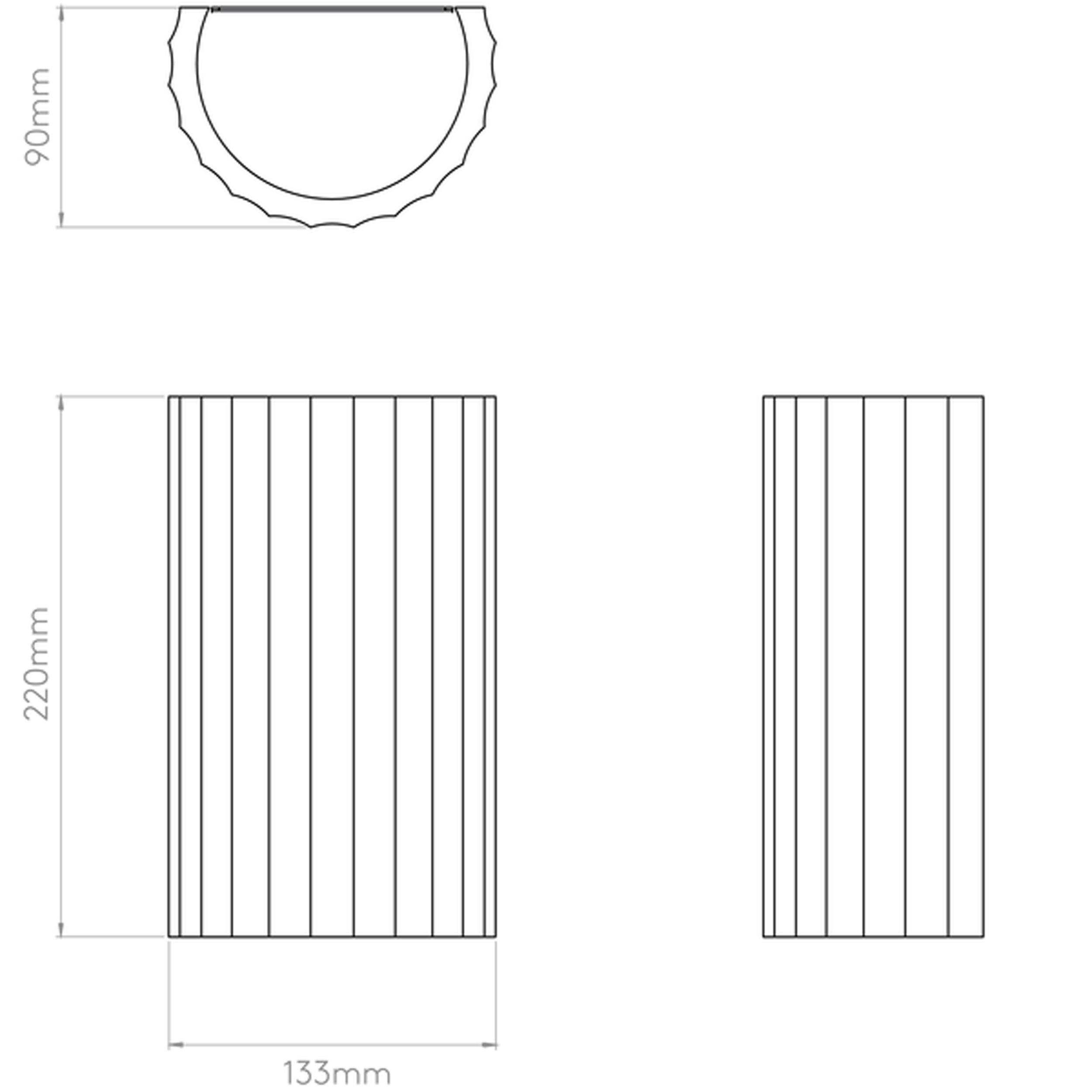 Astro Kymi 220 Wall Light Line Drawing