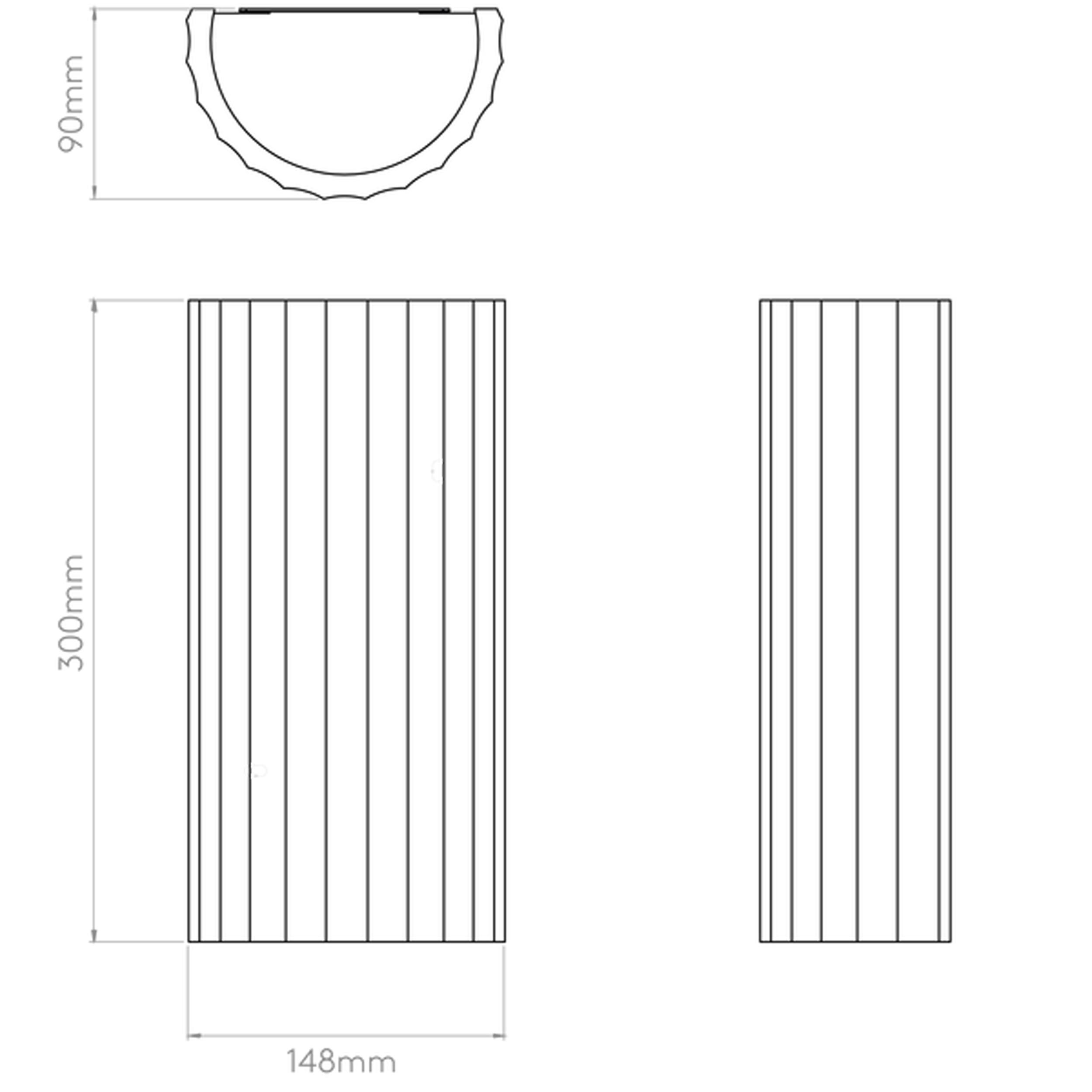Astro Kymi 300 Wall Light Line Drawing