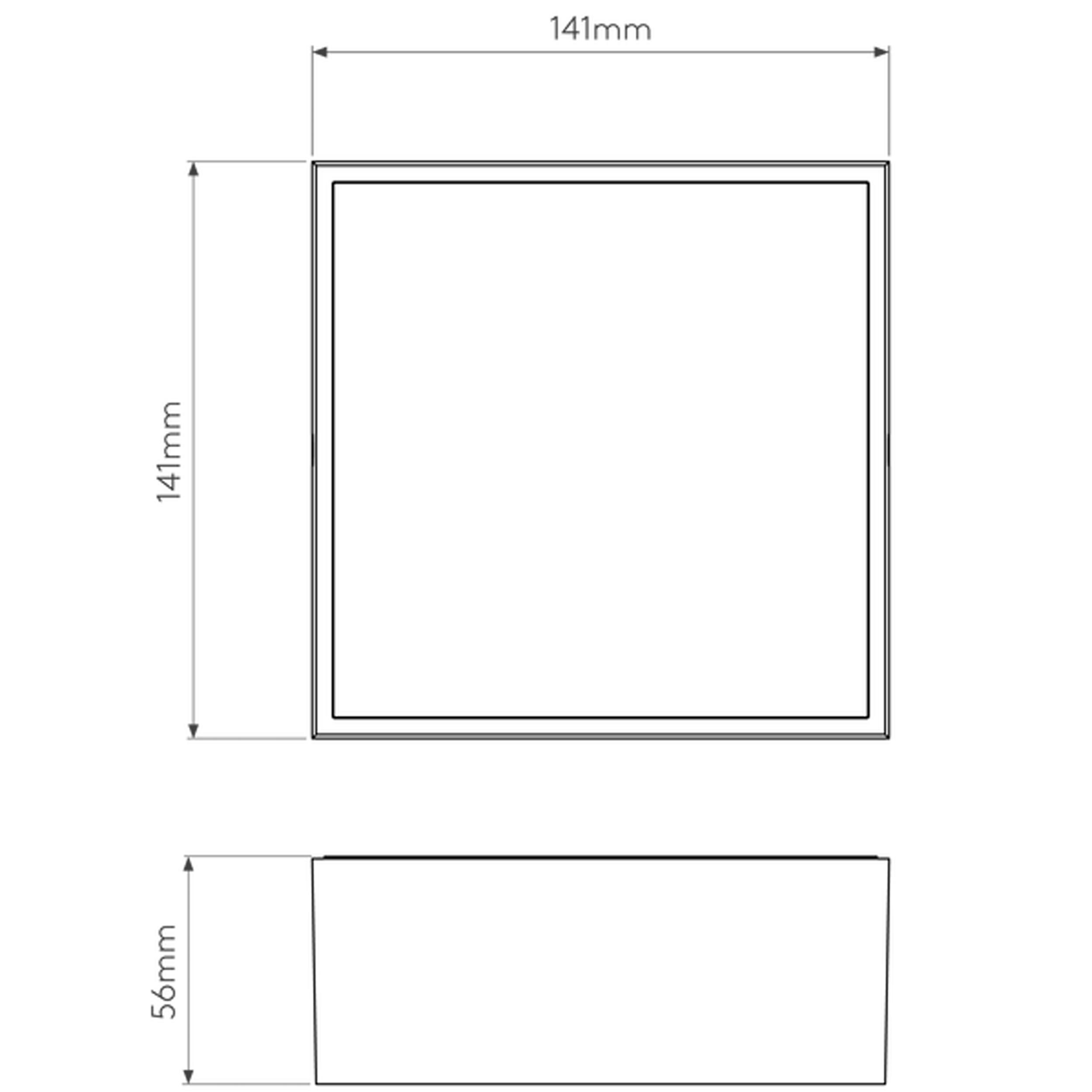 Astro Kea 140 Square Wall Light Line Drawing