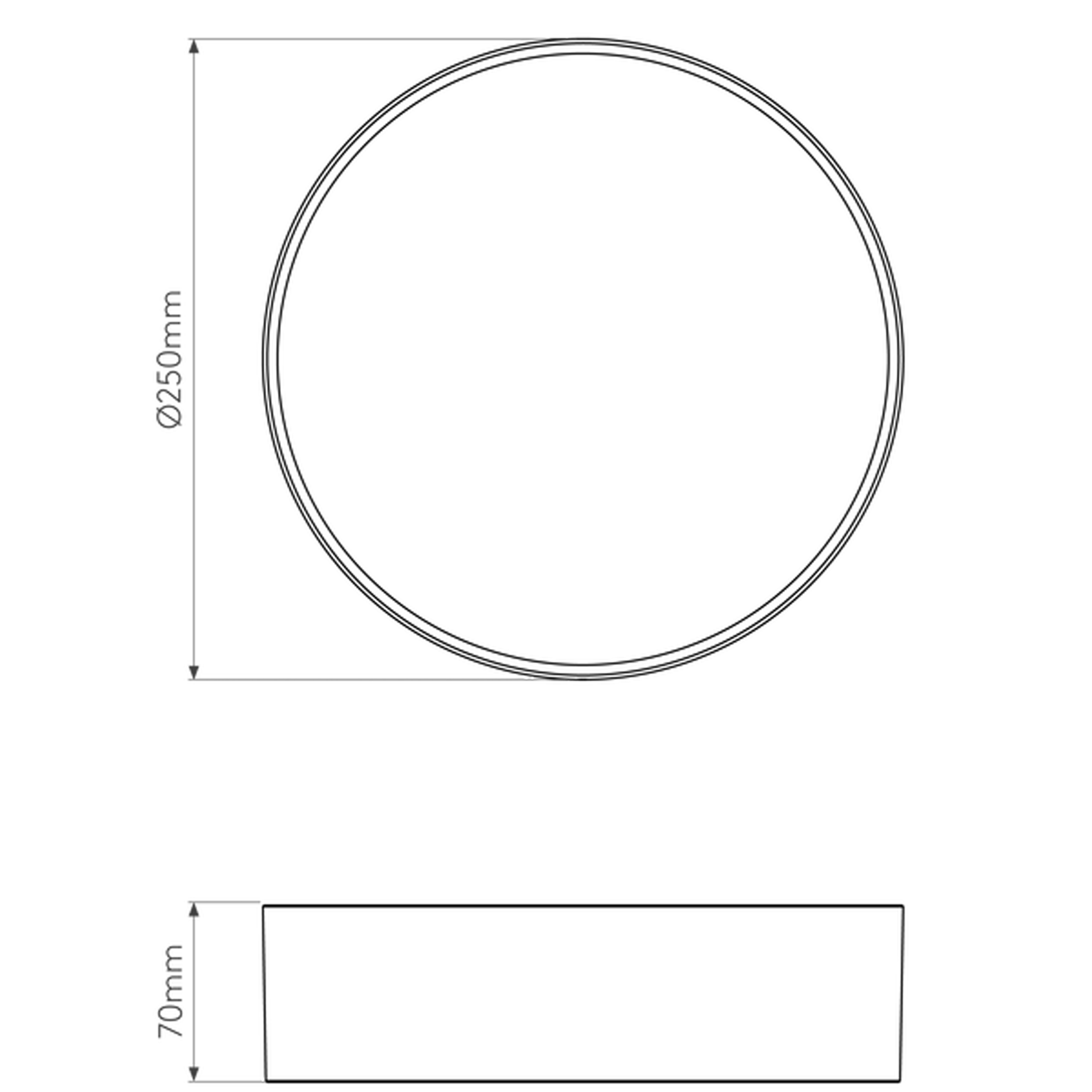 Astro Kea 250 Round Wall Light Line Drawing