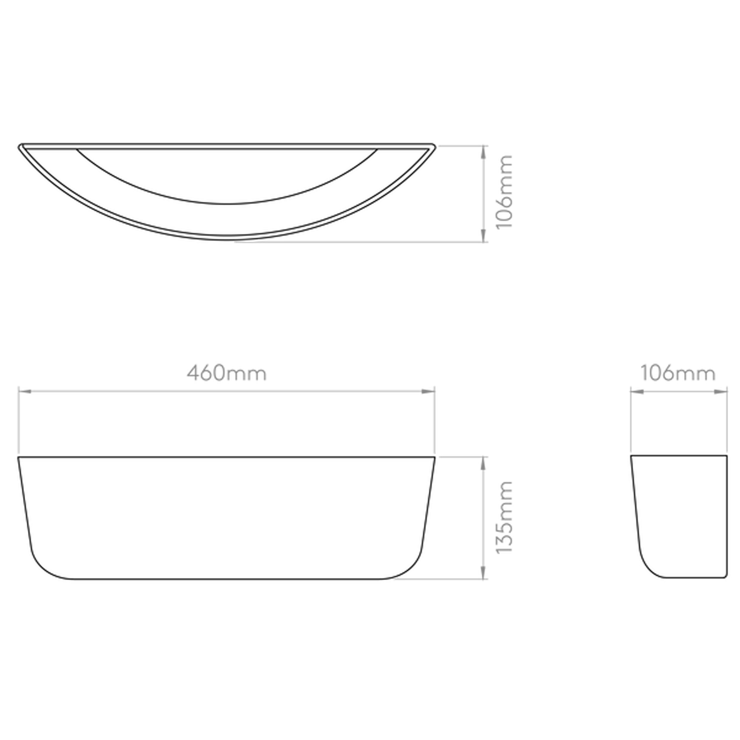 Astro Gosford 460 Wall Light Line Drawing