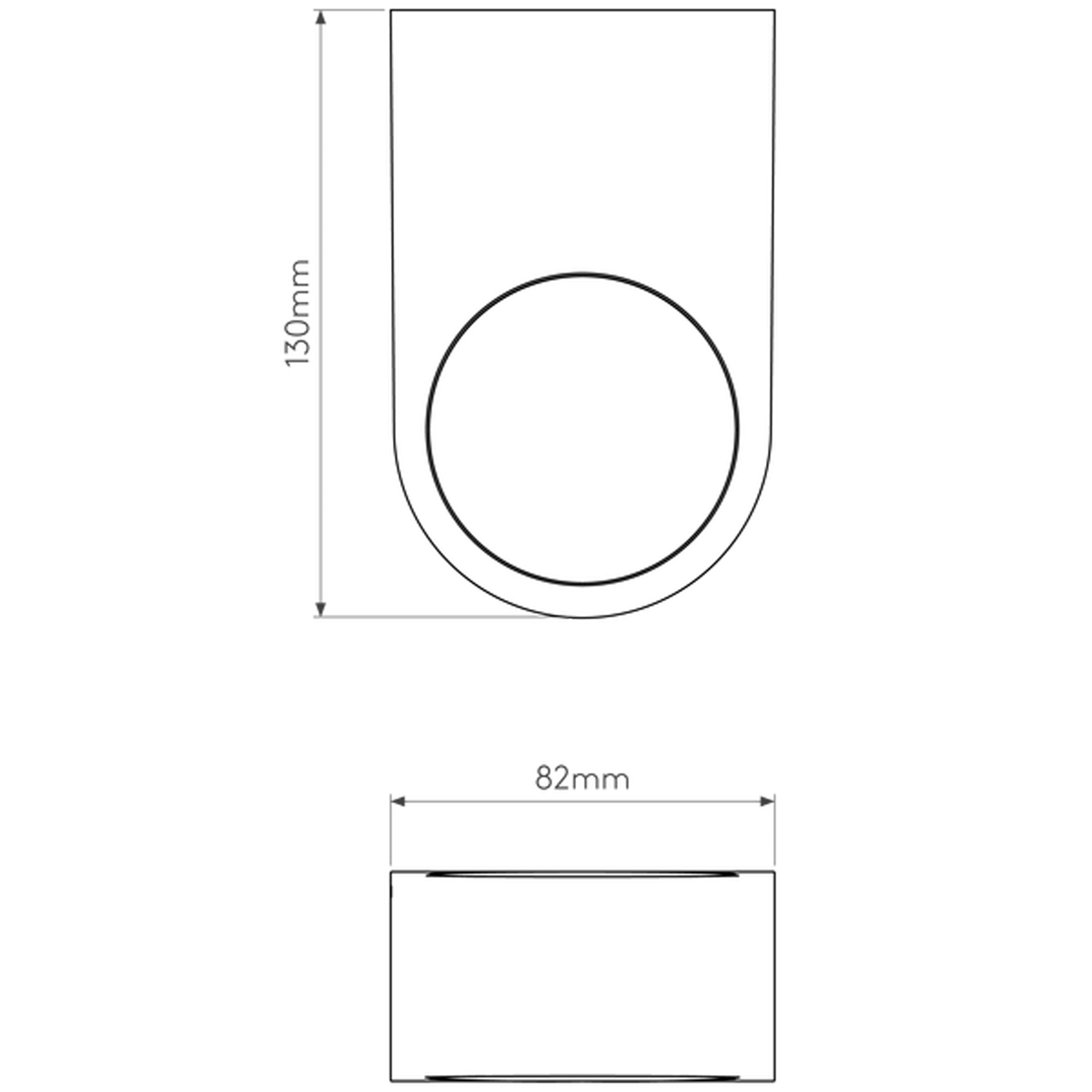 Astro Epsilon Led Wall Light Line Drawing