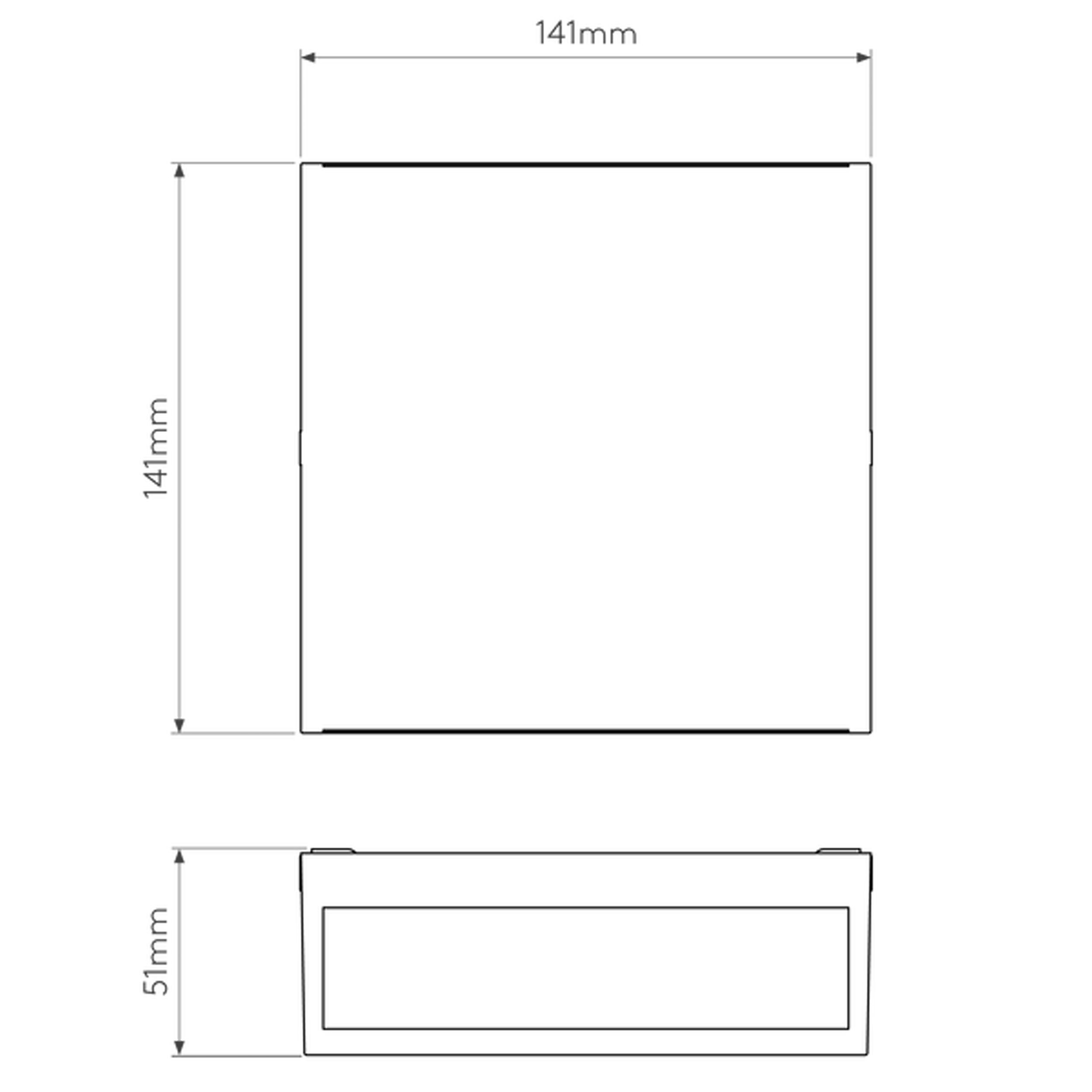 Astro Elis Twin Led Wall Light Line Drawing