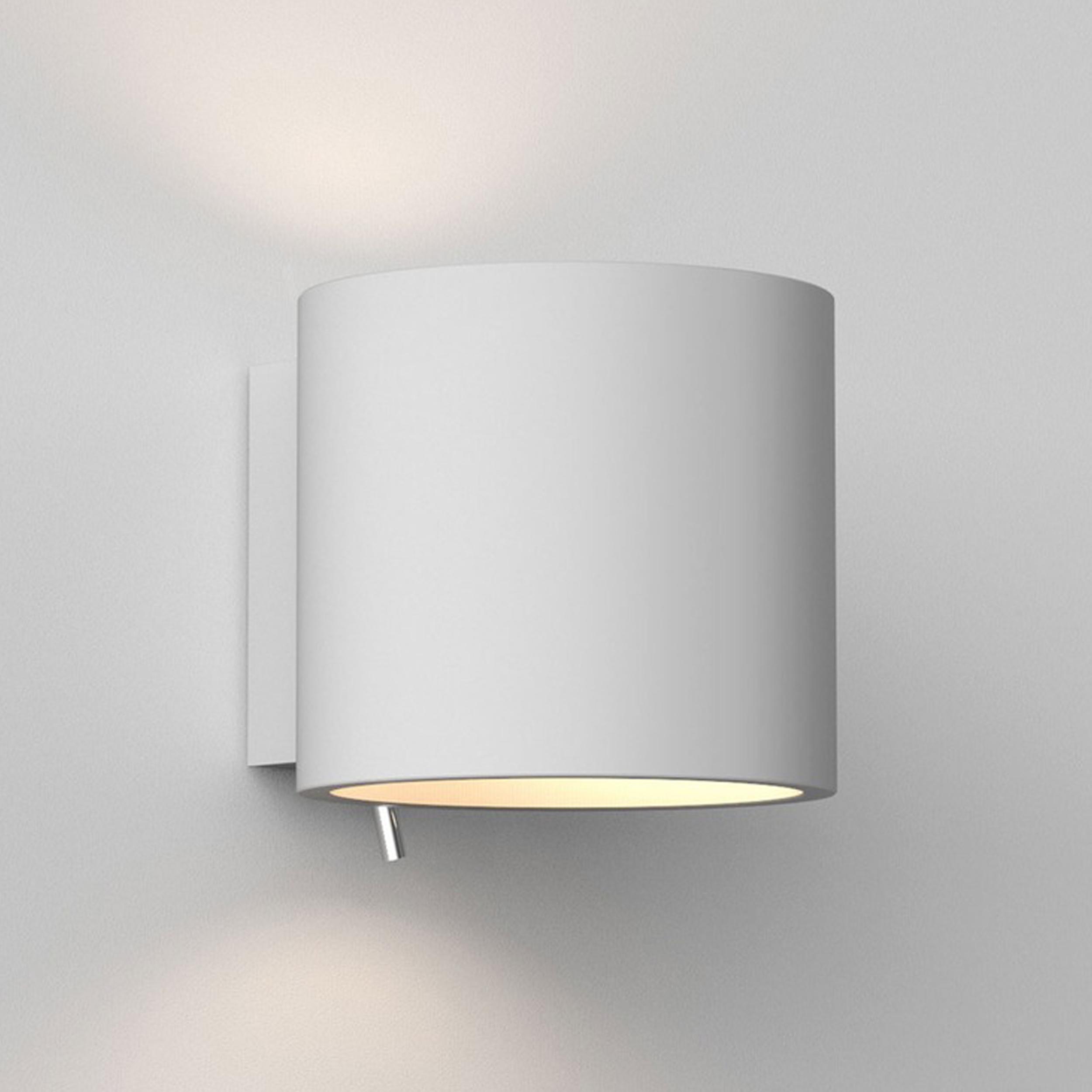 Astro Brenta 130 Wall Light White Plaster B