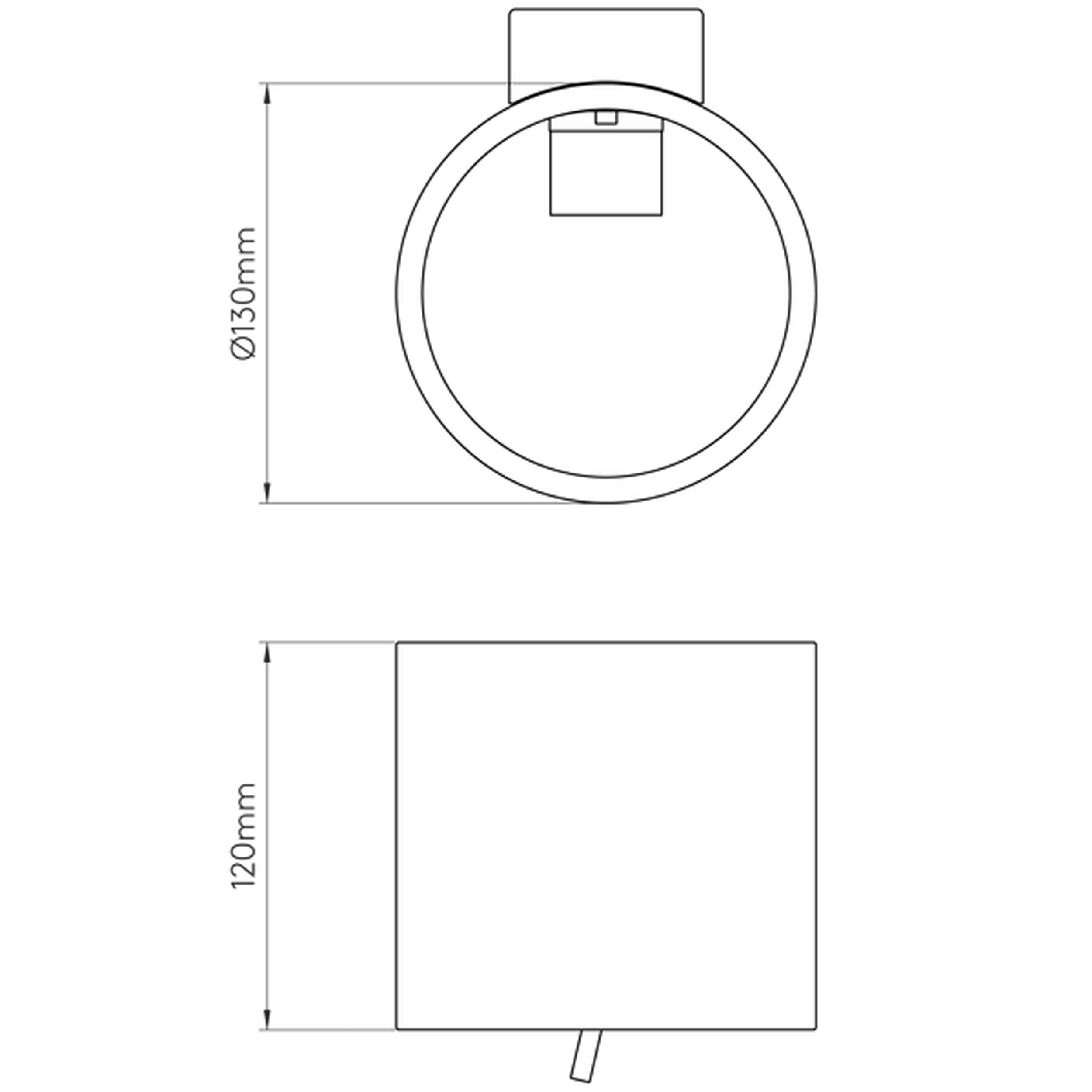 Astro Brenta 130 Wall Light Line Drawing