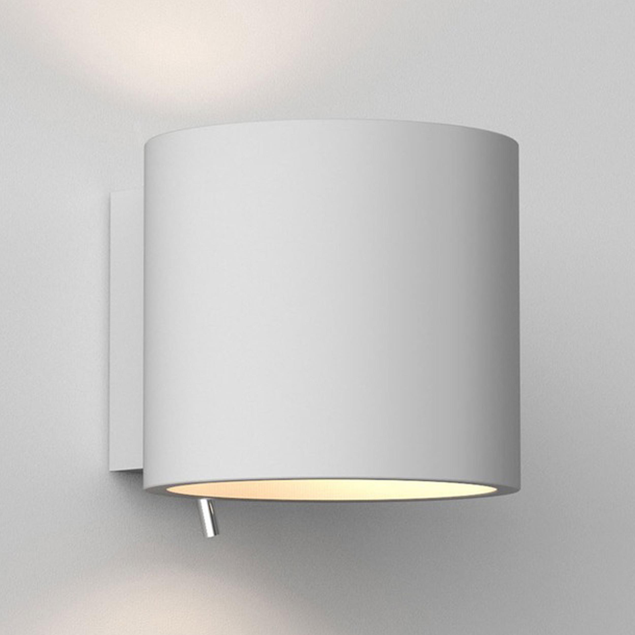 Astro Brenta 175 Wall Light White Plaster B