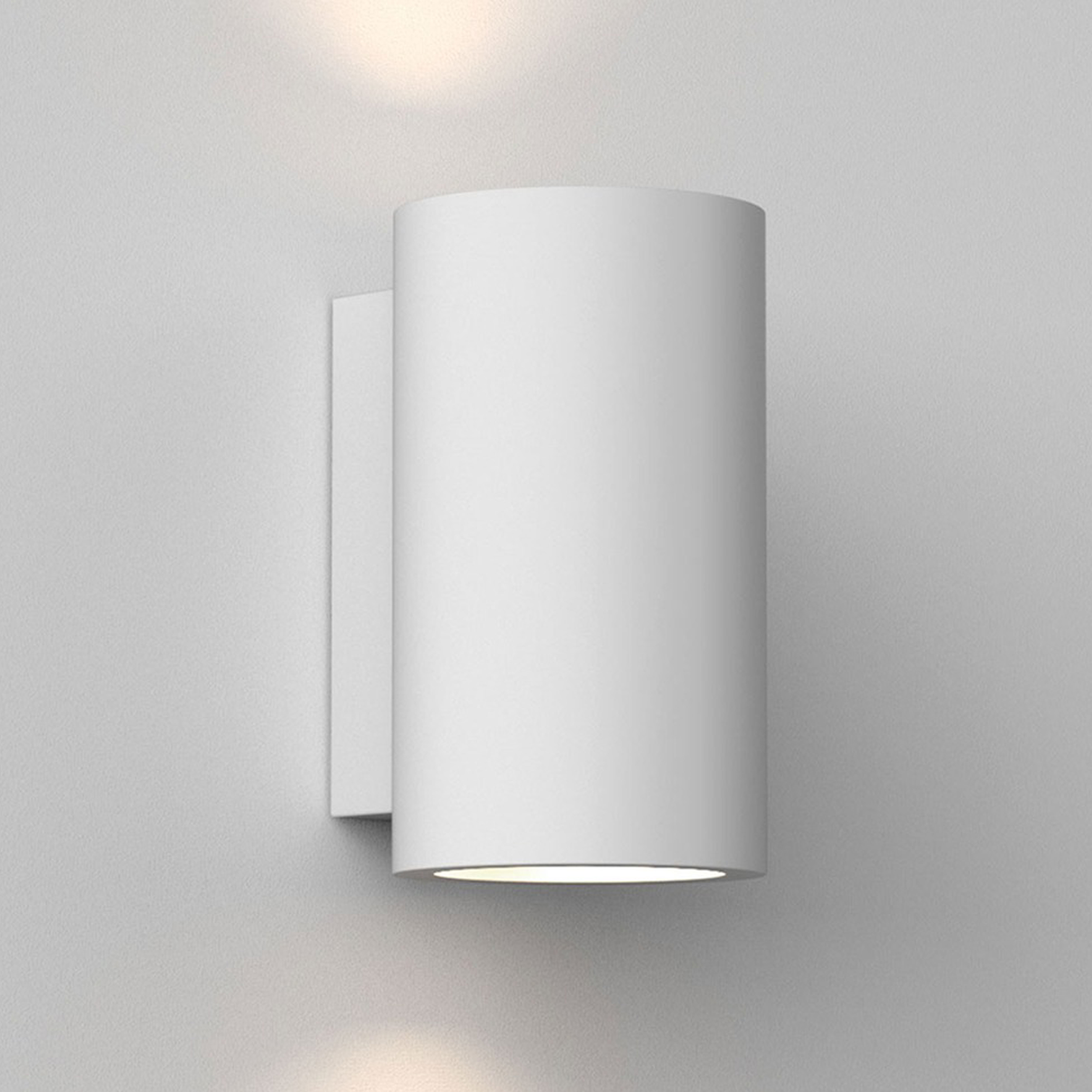 Astro Bologna 160 Led Wall Light White Plaster B