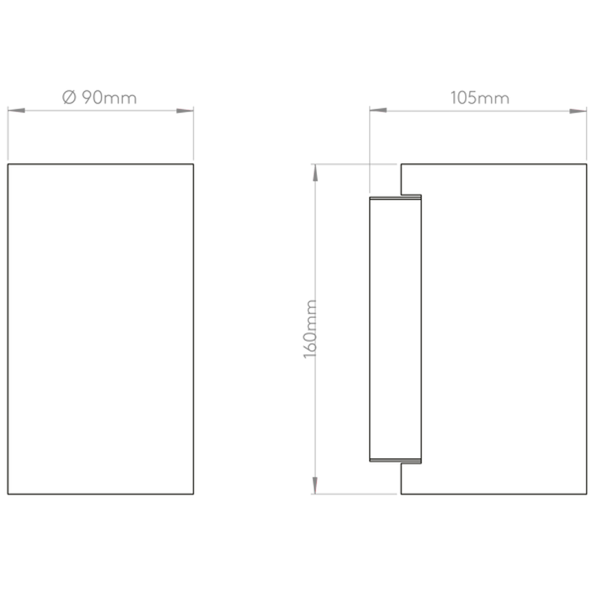 Astro Bologna 160 Led Wall Light Line Drawing