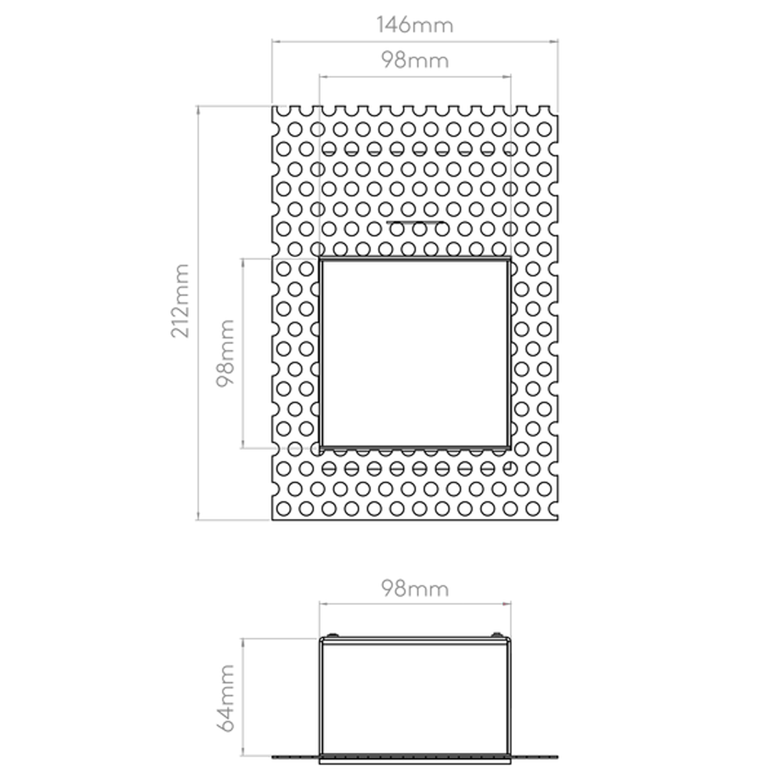 Astro Borgo Trimless 98 Wall Light Line Drawing