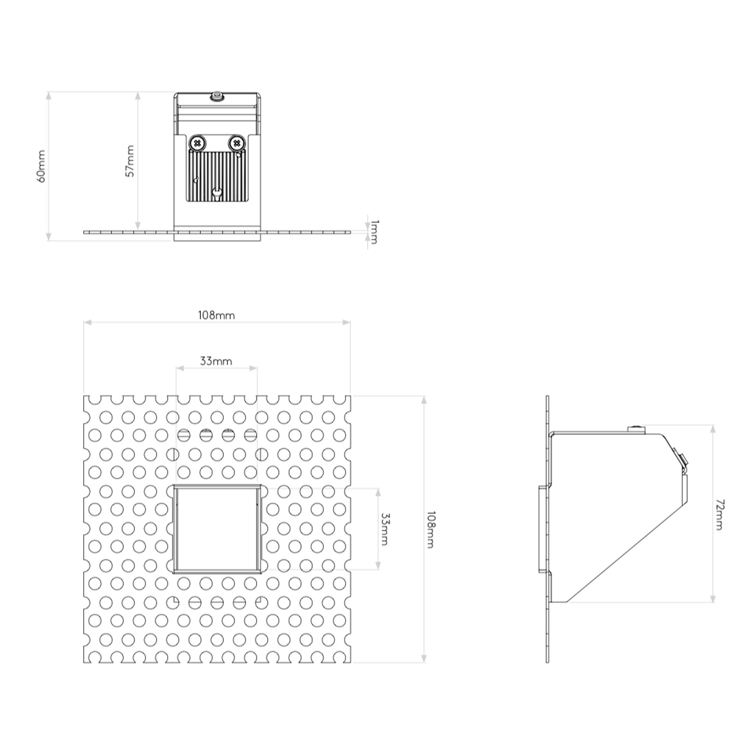 Astro Borgo Trimless Mini Wall Light Line Drawing