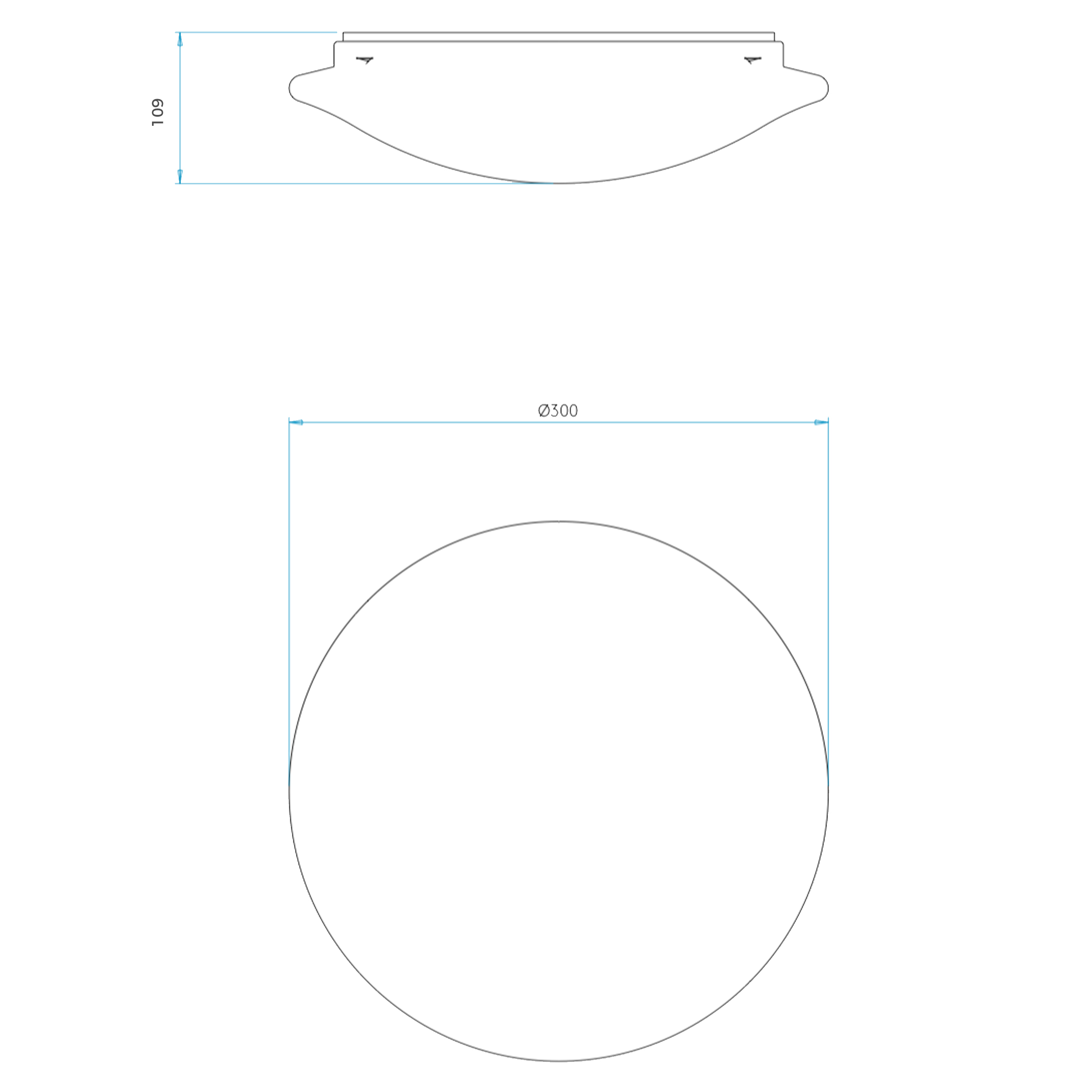 Astro Massa Sensor Led Ceiling Light Line Drawing