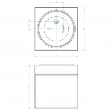 Astro Sabina Square Ceiling Light Line Drawing