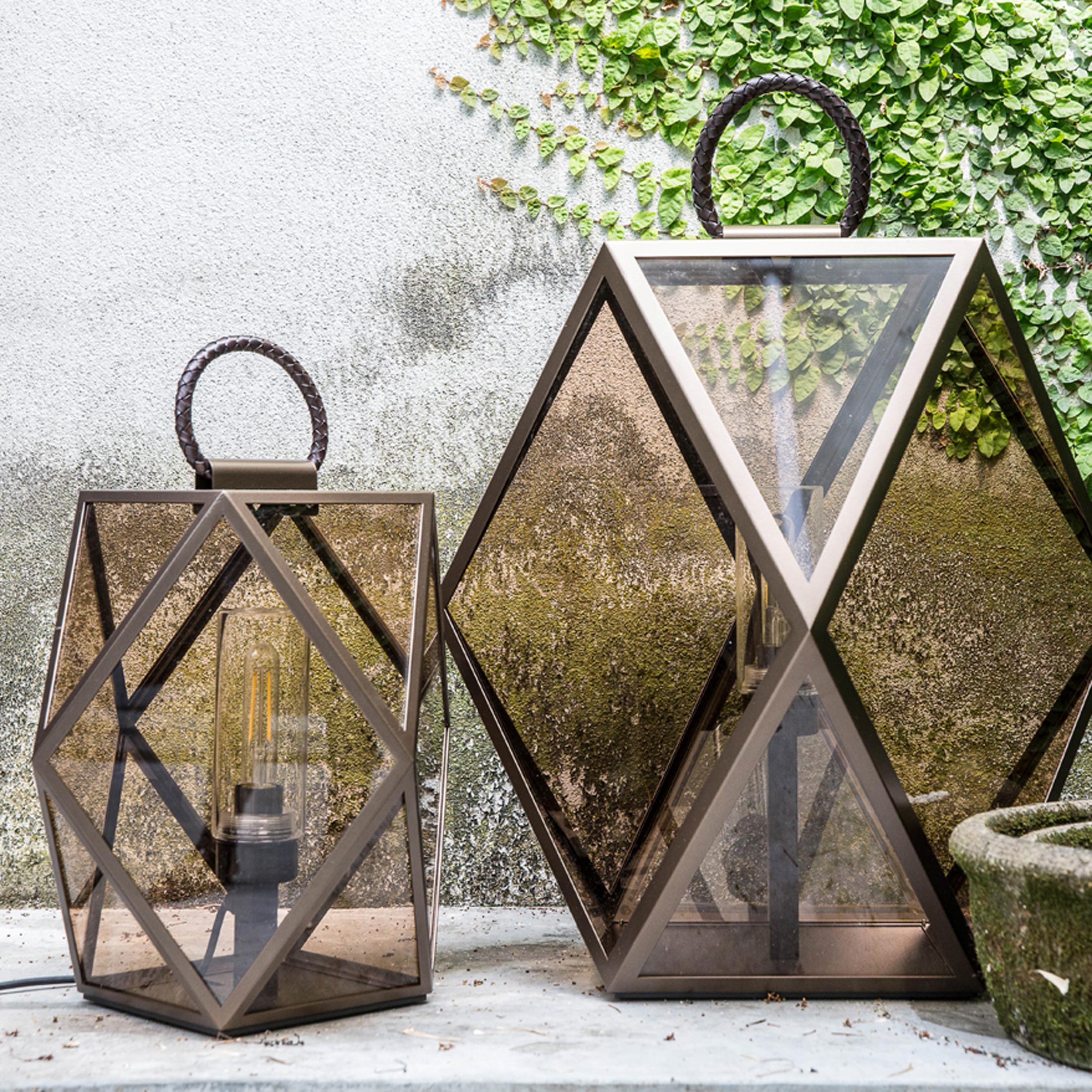 Contardi Muse Lantern Outdoor Table Lamp Bronze C